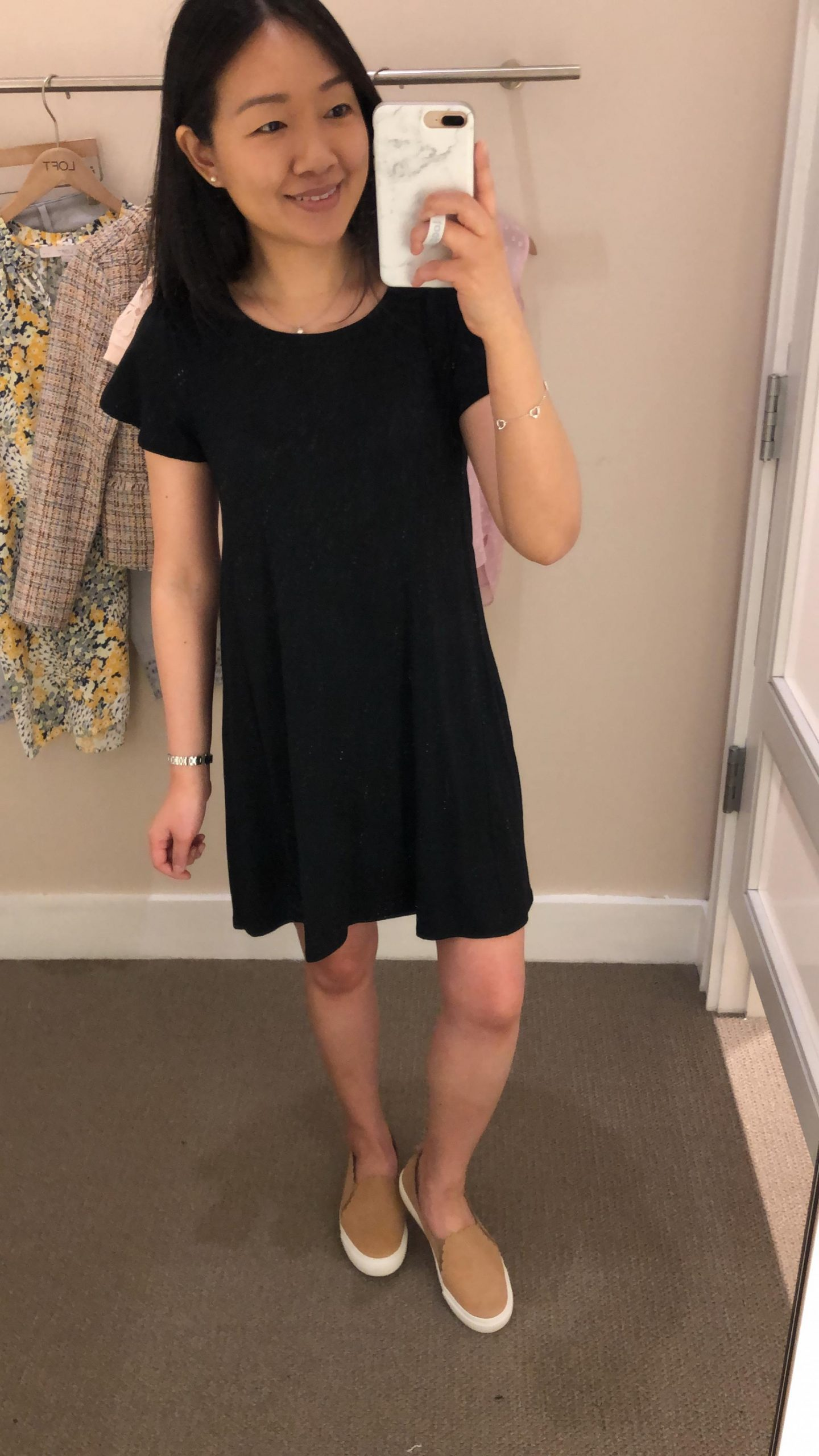 LOFT Tulip Sleeve Swing Dress, size XSP