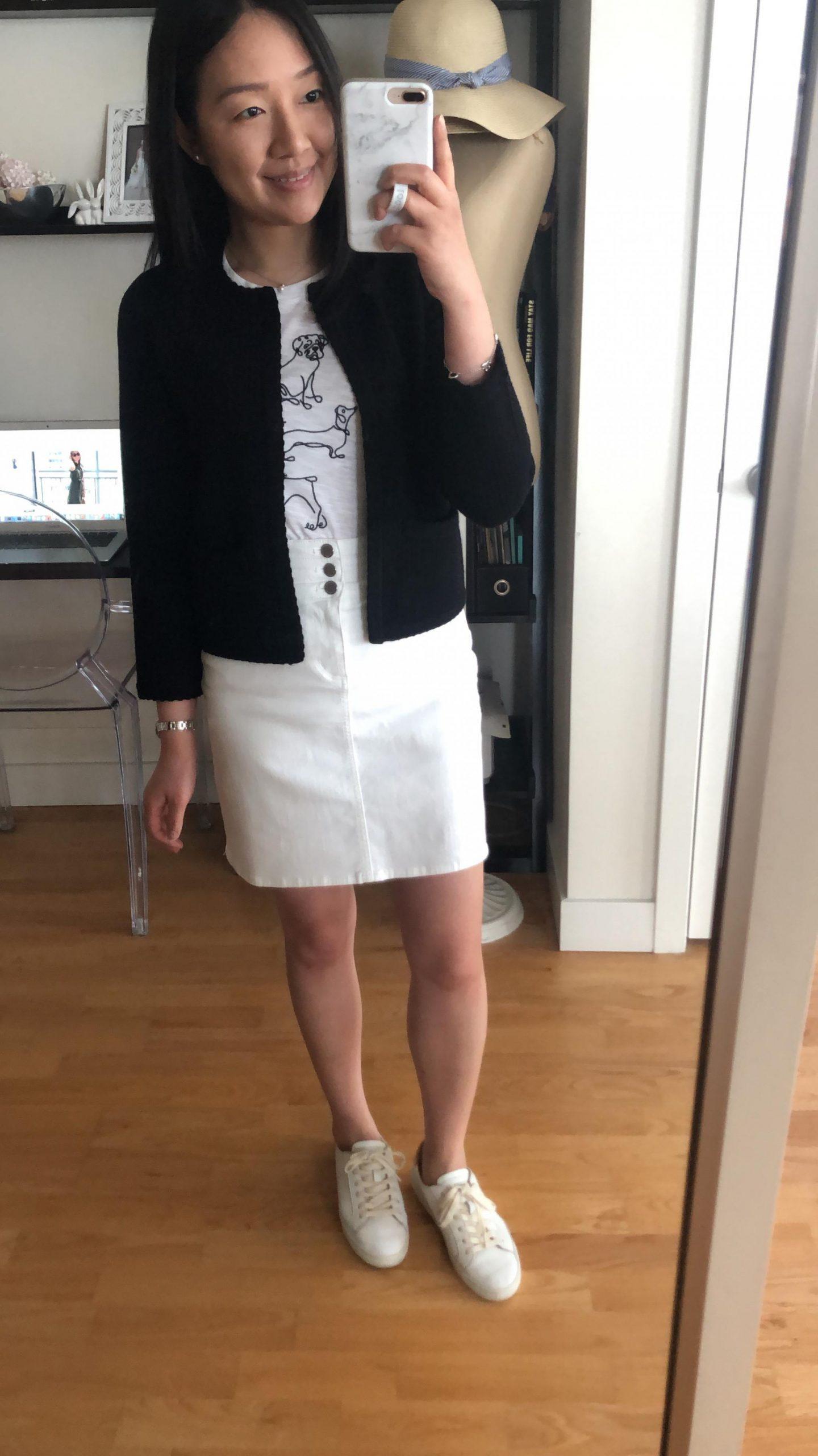 Ann Taylor Stitched Open Jacket, size XSP