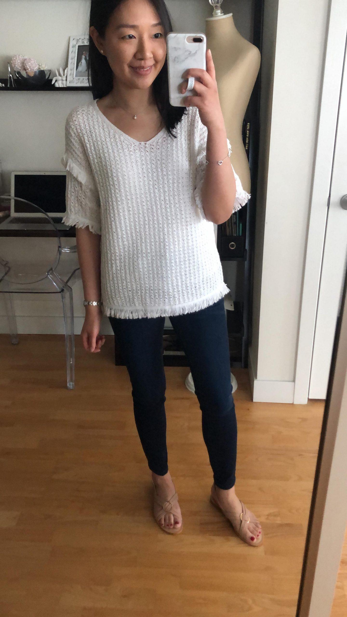 Lou & Grey Fringestitch Sweater, size XXS regular