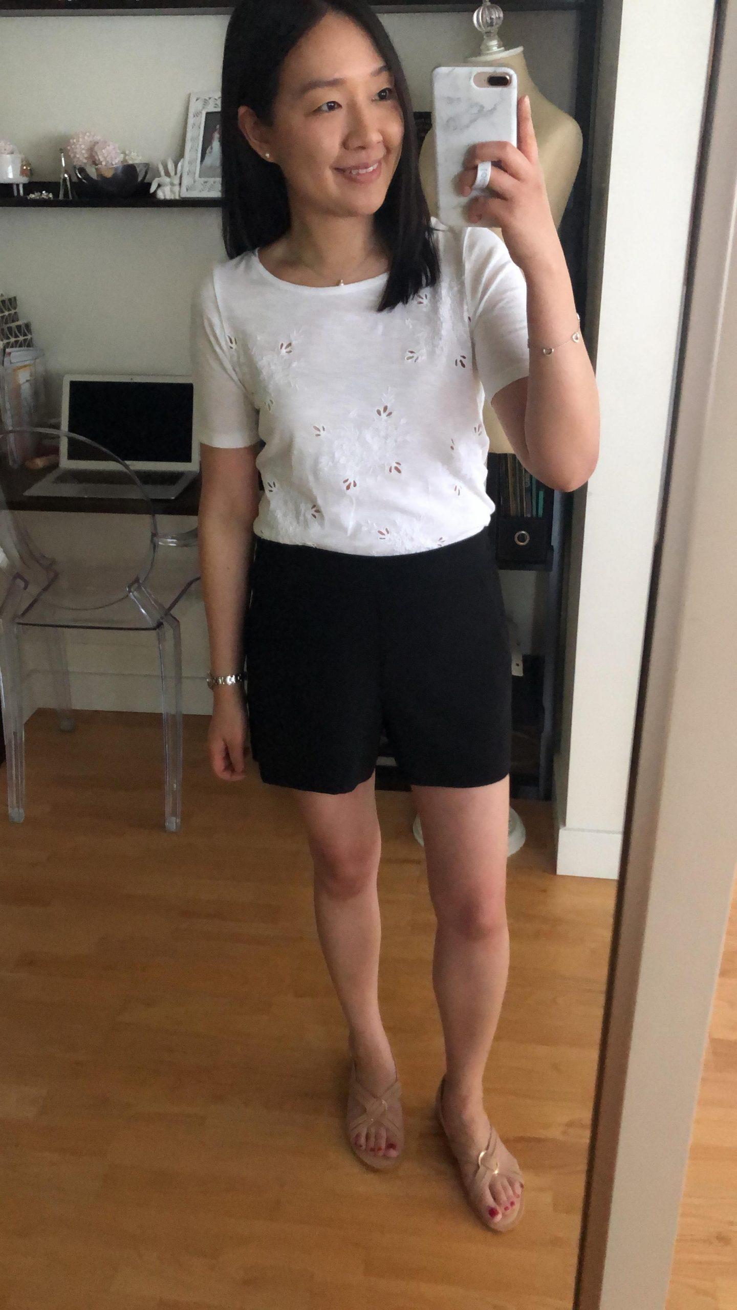 LOFT Crepe Pull On Shorts, size XXS regular