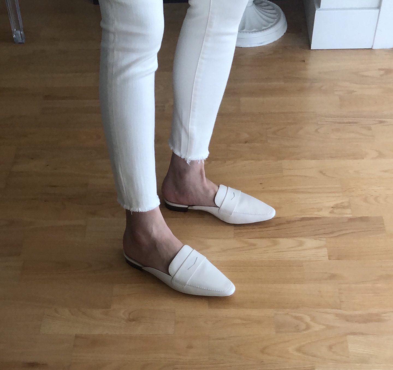 Ann Taylor Geraldine Leather Loafer Slides