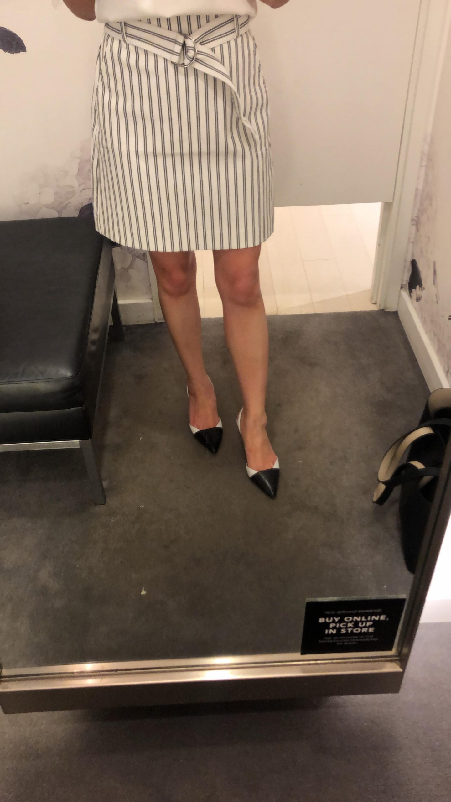 Ann Taylor The Striped Marina Skirt, size 2P