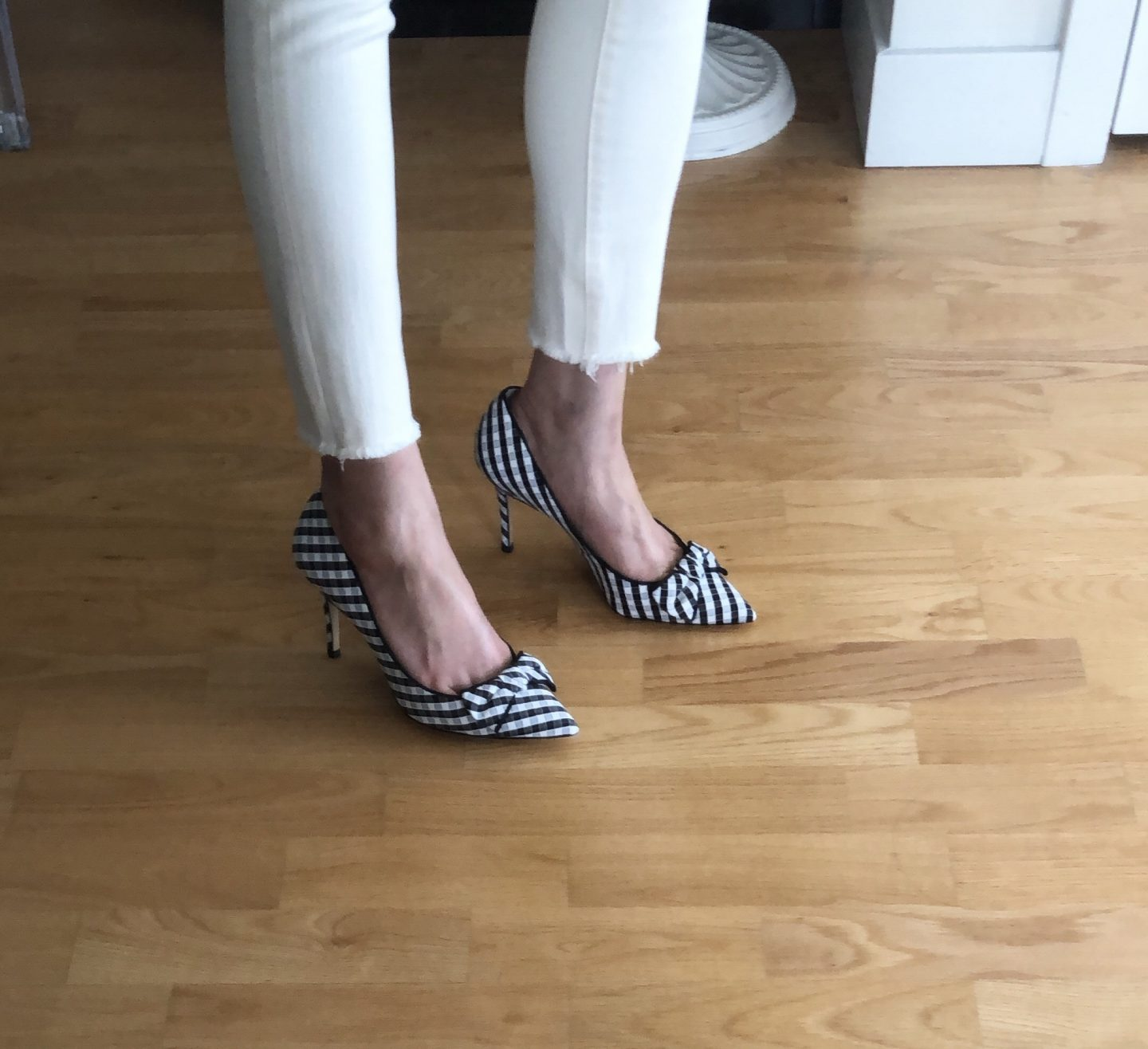 Ann Taylor Kit Gingham Soft Bow Pumps