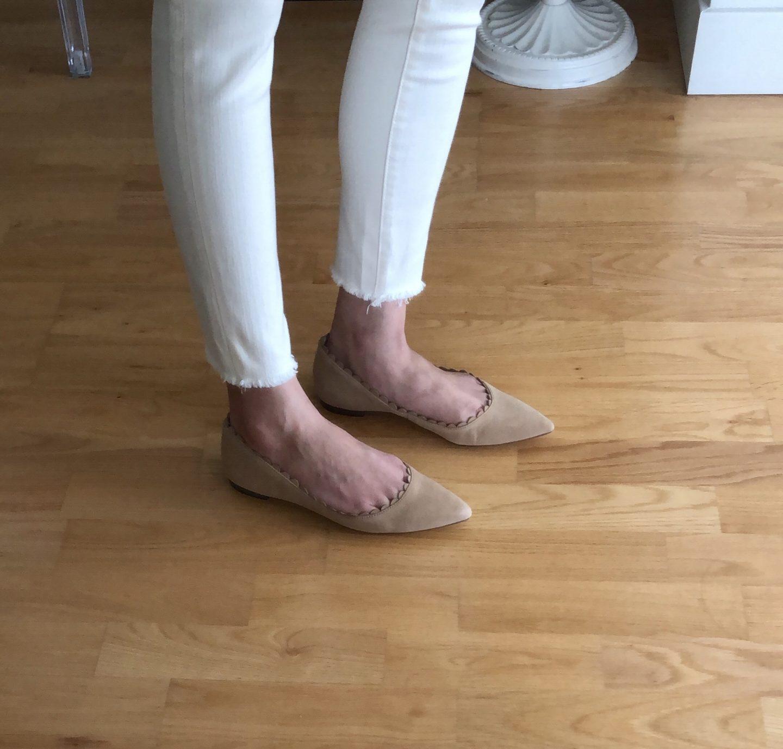Ann Taylor Shreya Scalloped Suede Flats