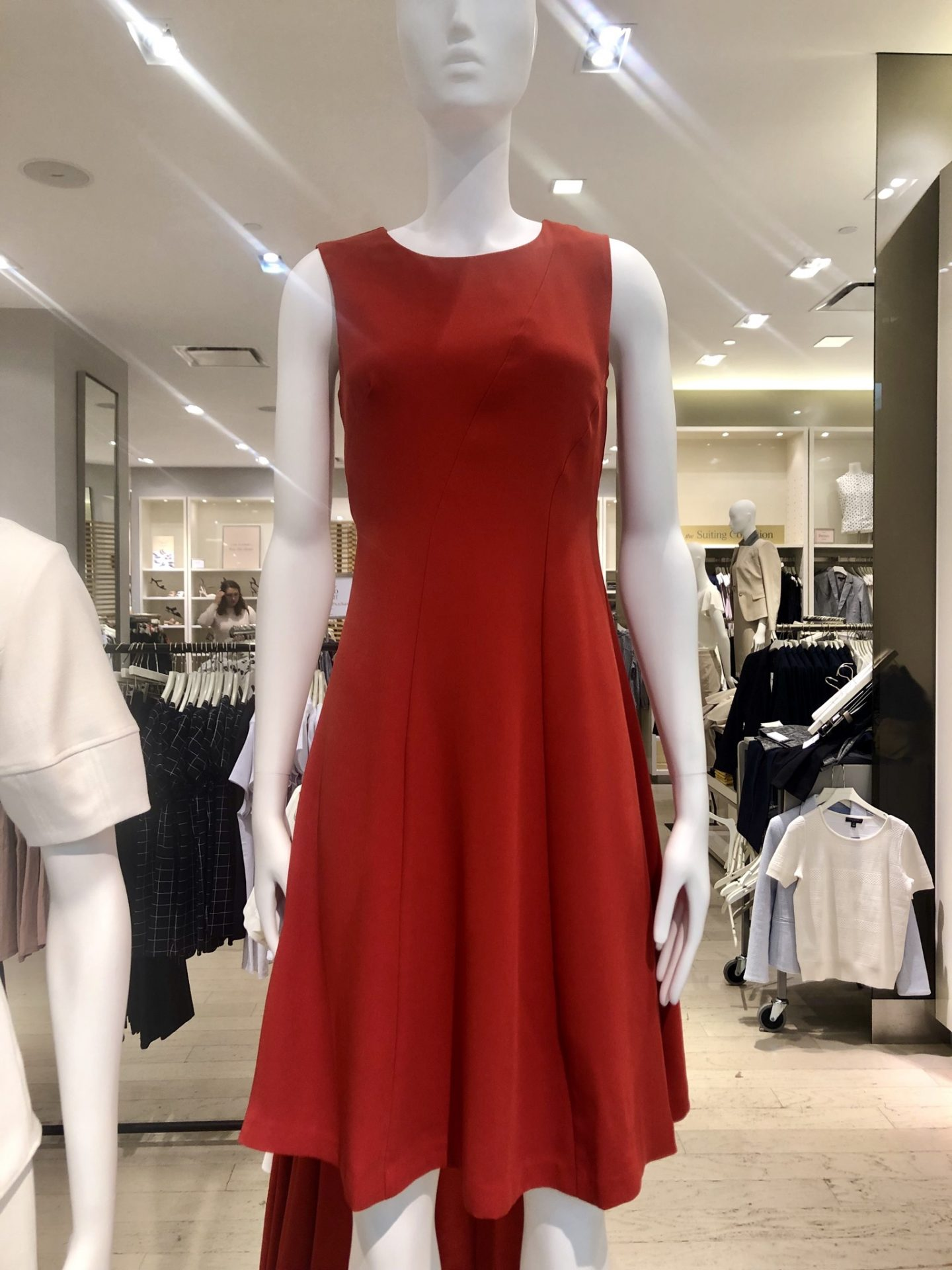 Ann Taylor Seamed Sleeveless Flare Dress