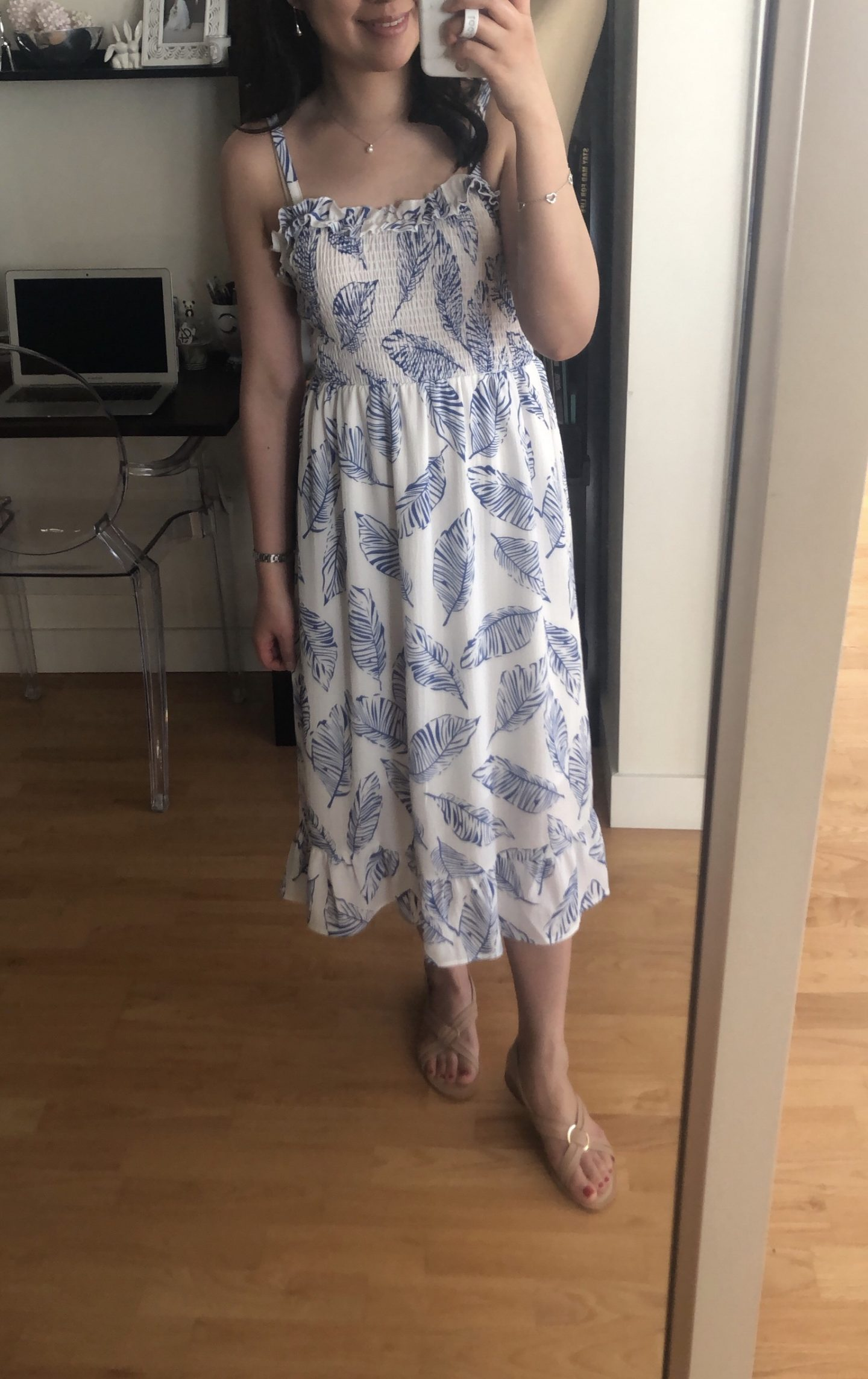 PRETTYGARDEN Summer Spaghetti Strap Midi Dress, size Small