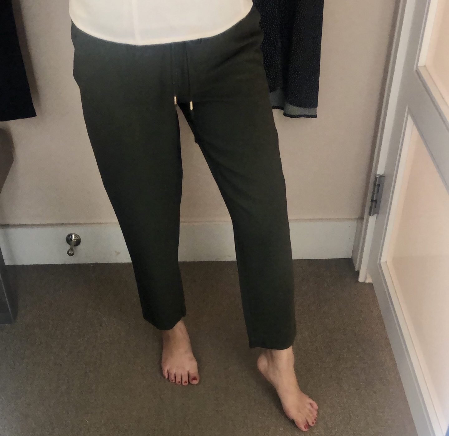 LOFT Tapered Drawstring Pants, size XXSP