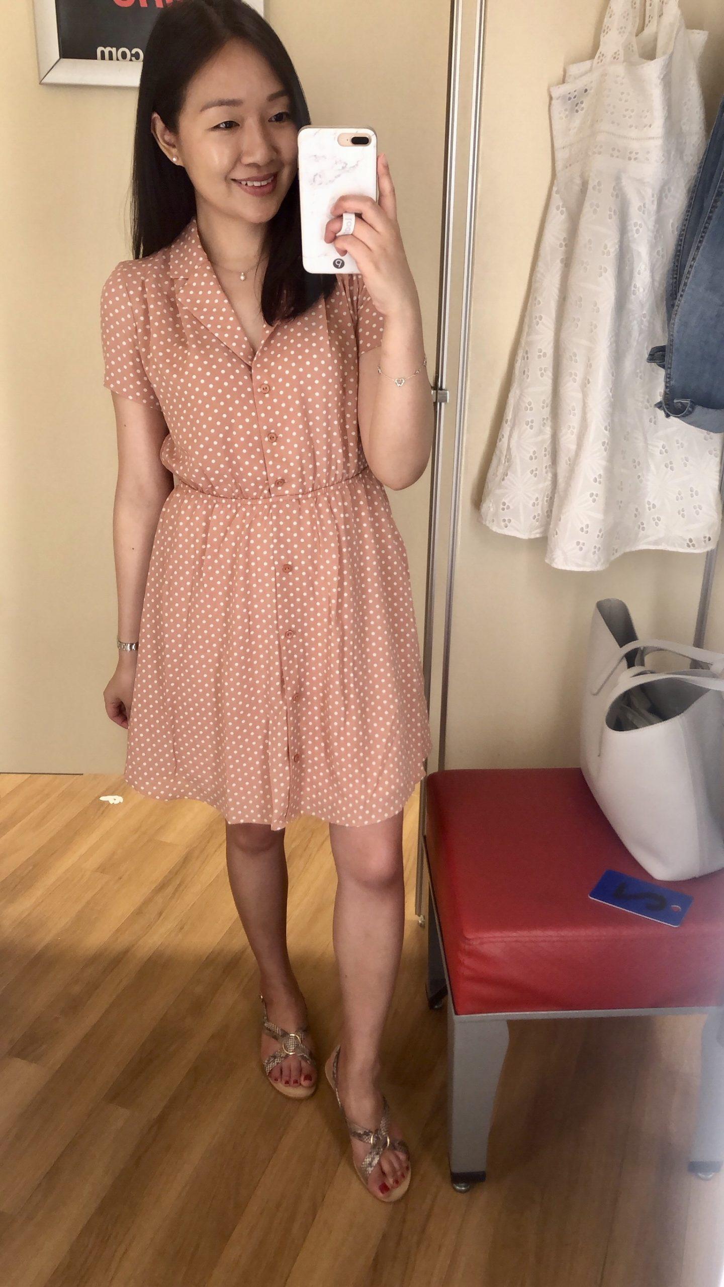 Monteau Polka Dot Dress, size S