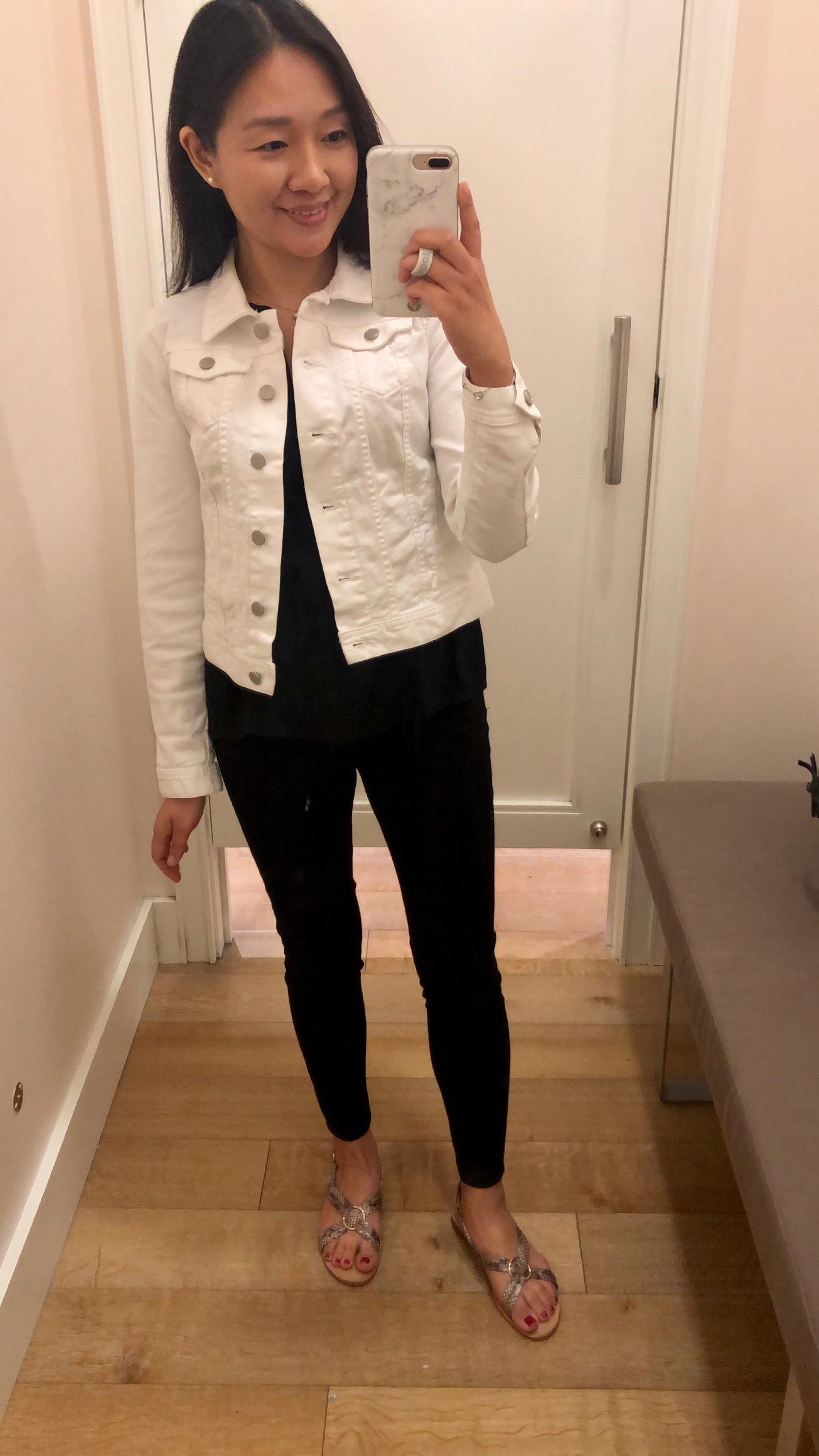 LOFT Distressed Denim Jacket, size XSP