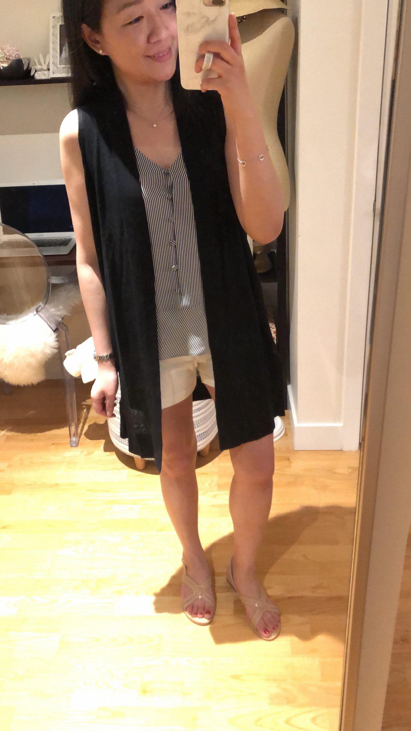 LOFT Duster Sweater Vest, size XSP
