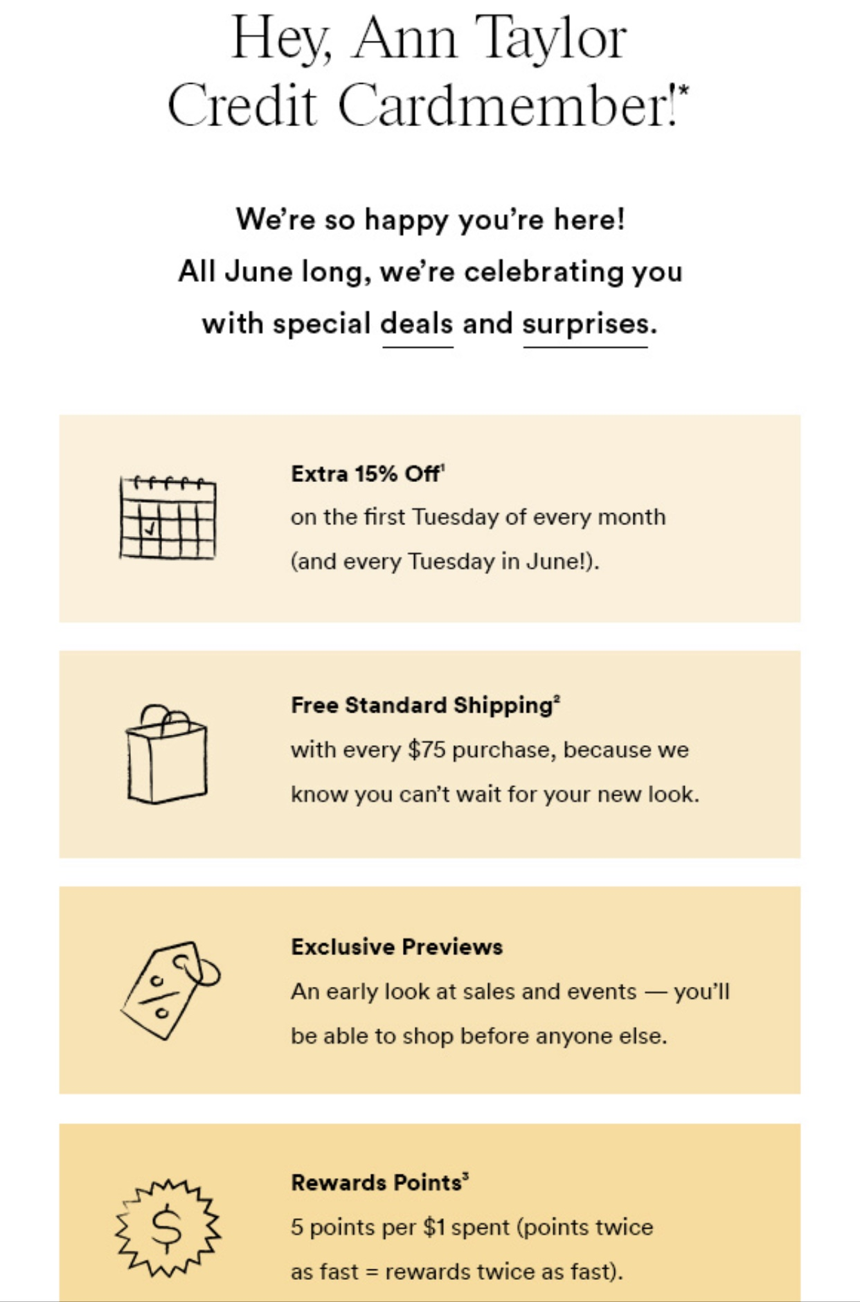June is Credit Cardmember appreciation month