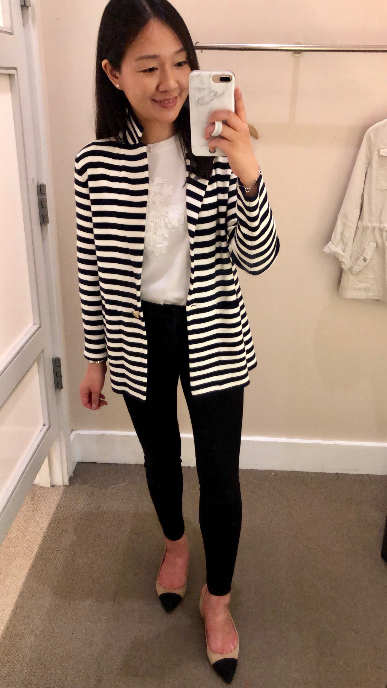LOFT Striped Sweater Blazer, size SP