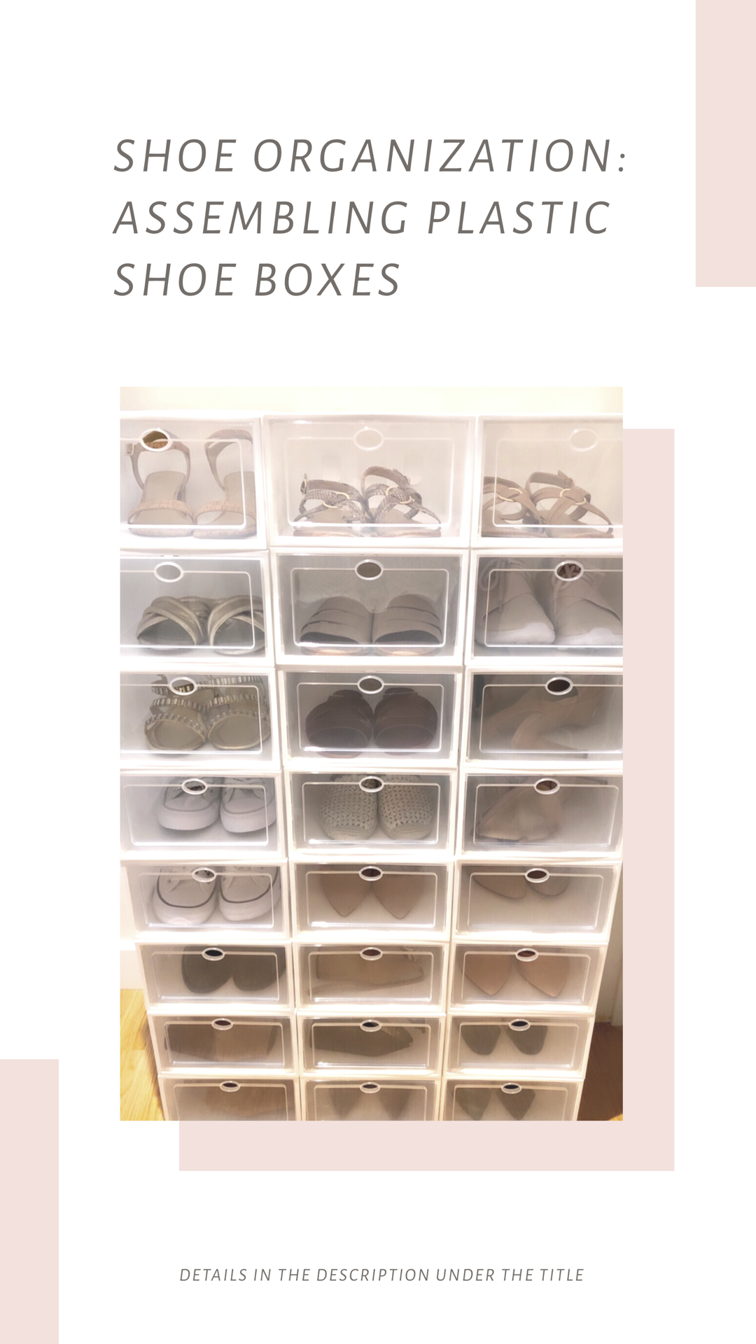 Shoe Organization: Assembling Modular Plastic Shoe Boxes