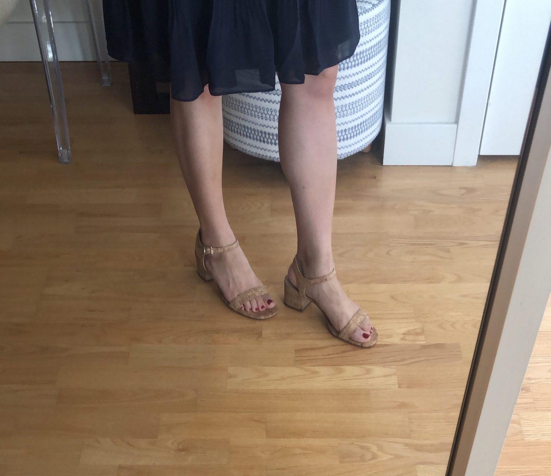 Ann Taylor Kennedy Cork Heeled Sandals