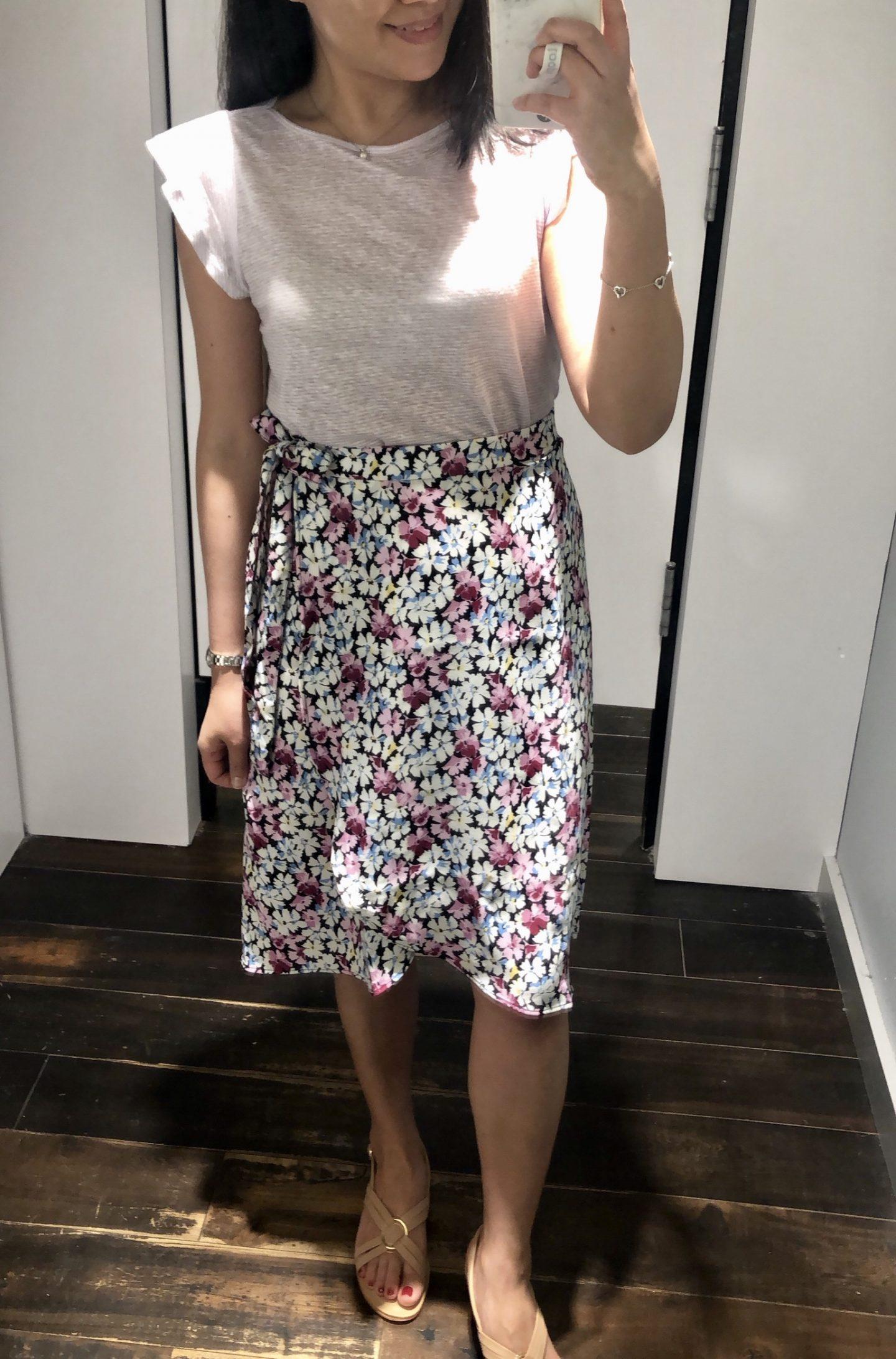 LOFT Garden Wrap Skirt, size 0P