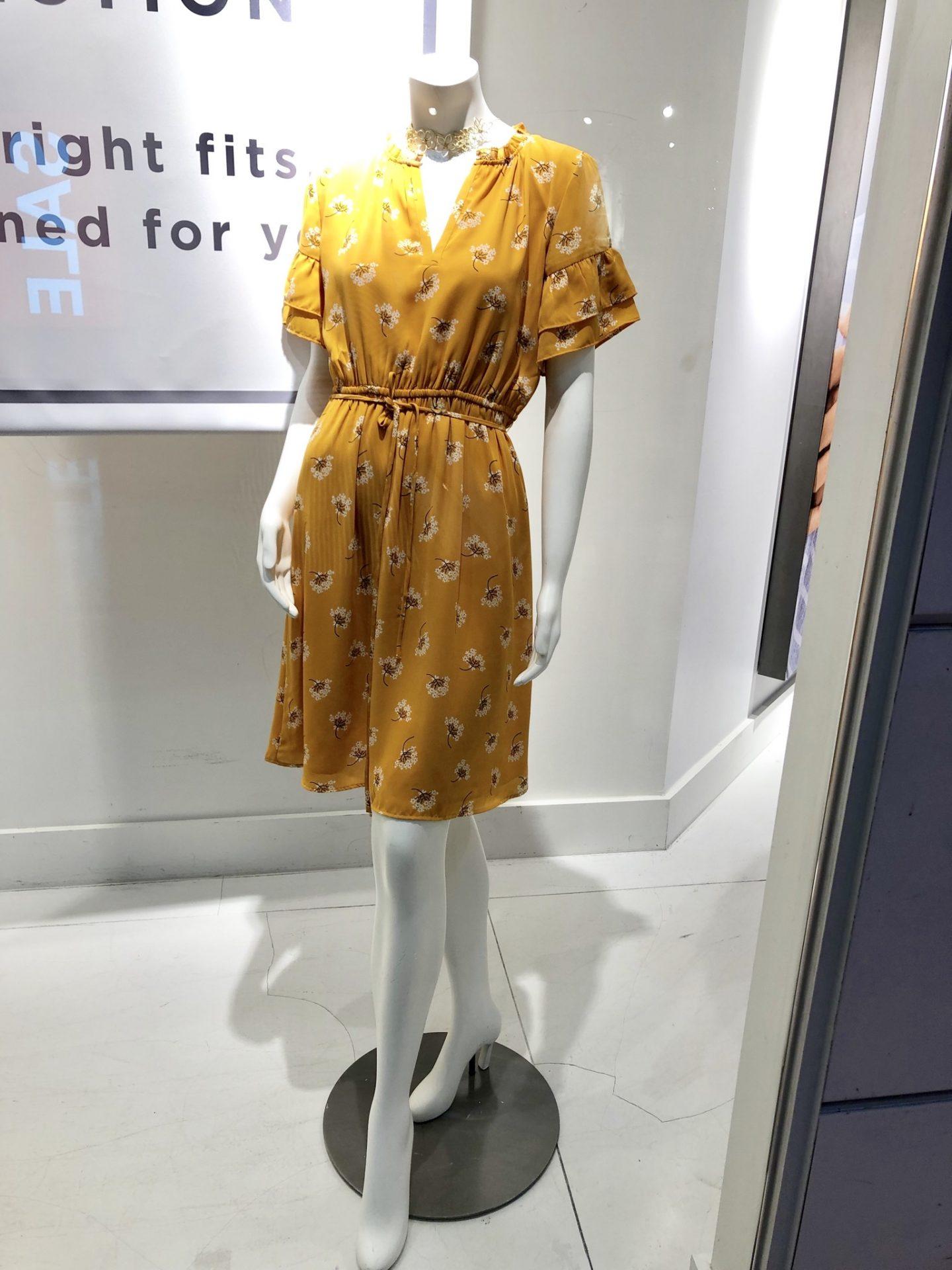 LOFT Outlet Bouquet Ruffle Sleeve Dress