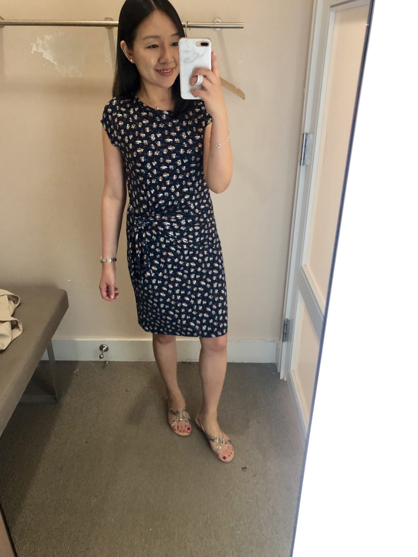 LOFT Daisy Flounce Flare Dress, size XSP