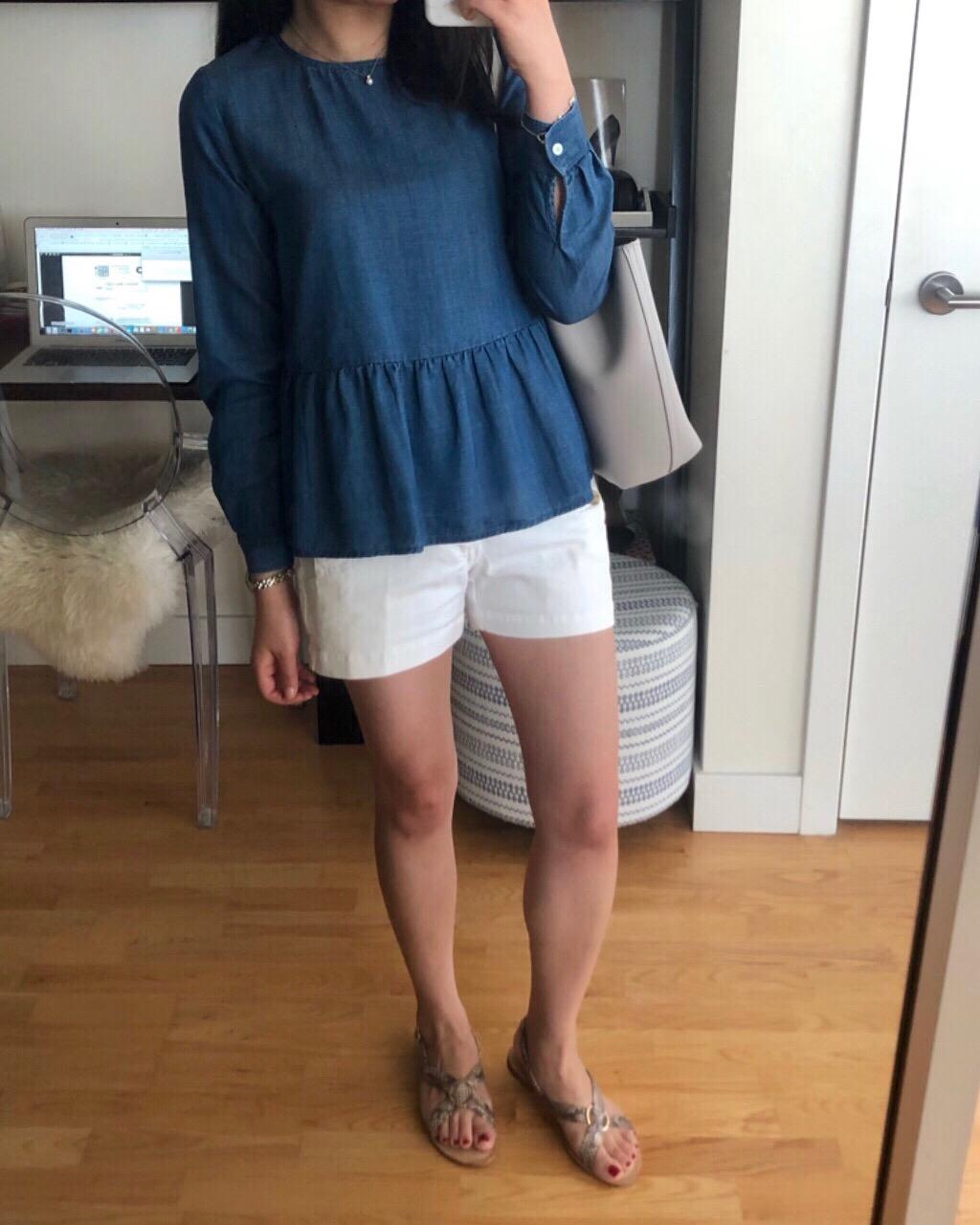 Blue & White OOTD