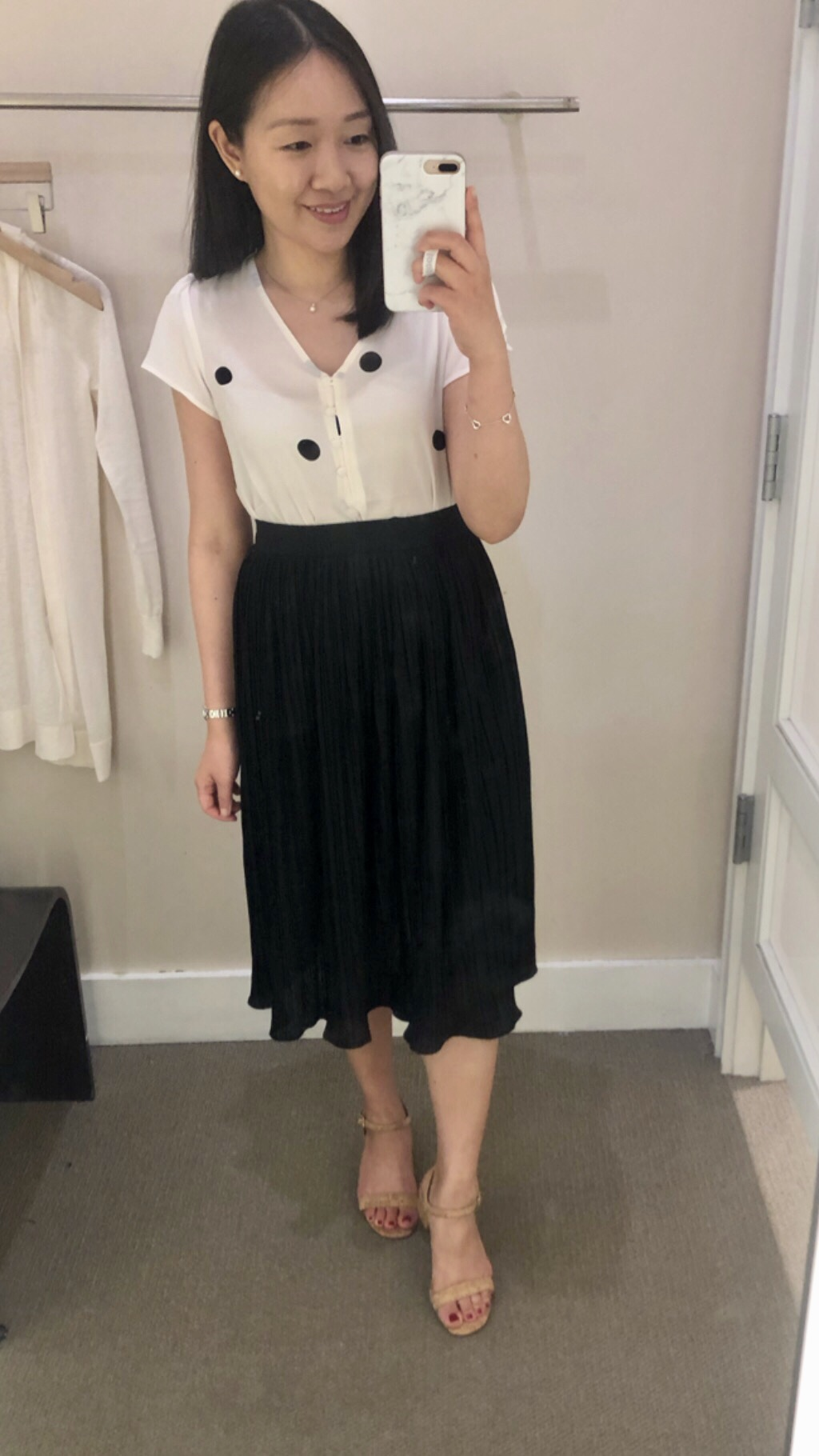 LOFT Pleated Knit Midi Skirt, size XXSP
