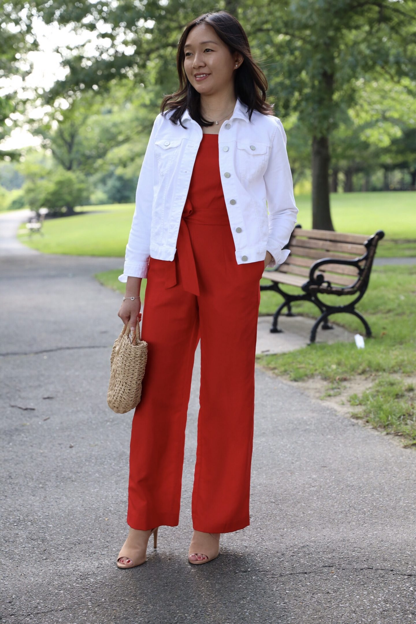 Ann Taylor Square Neck Jumpsuit