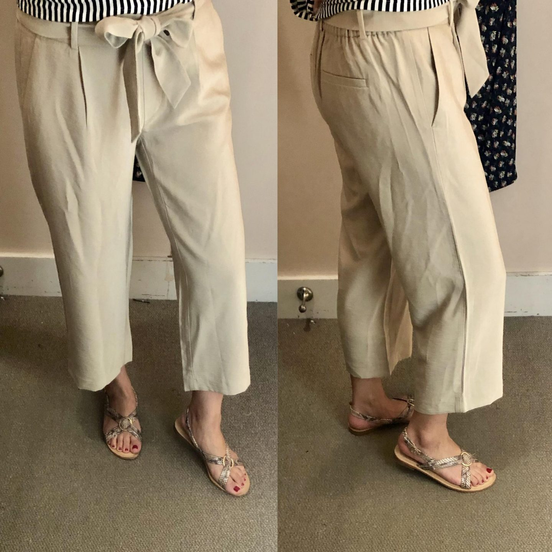 LOFT Tie Waist Wide Leg Pants, size XXSP