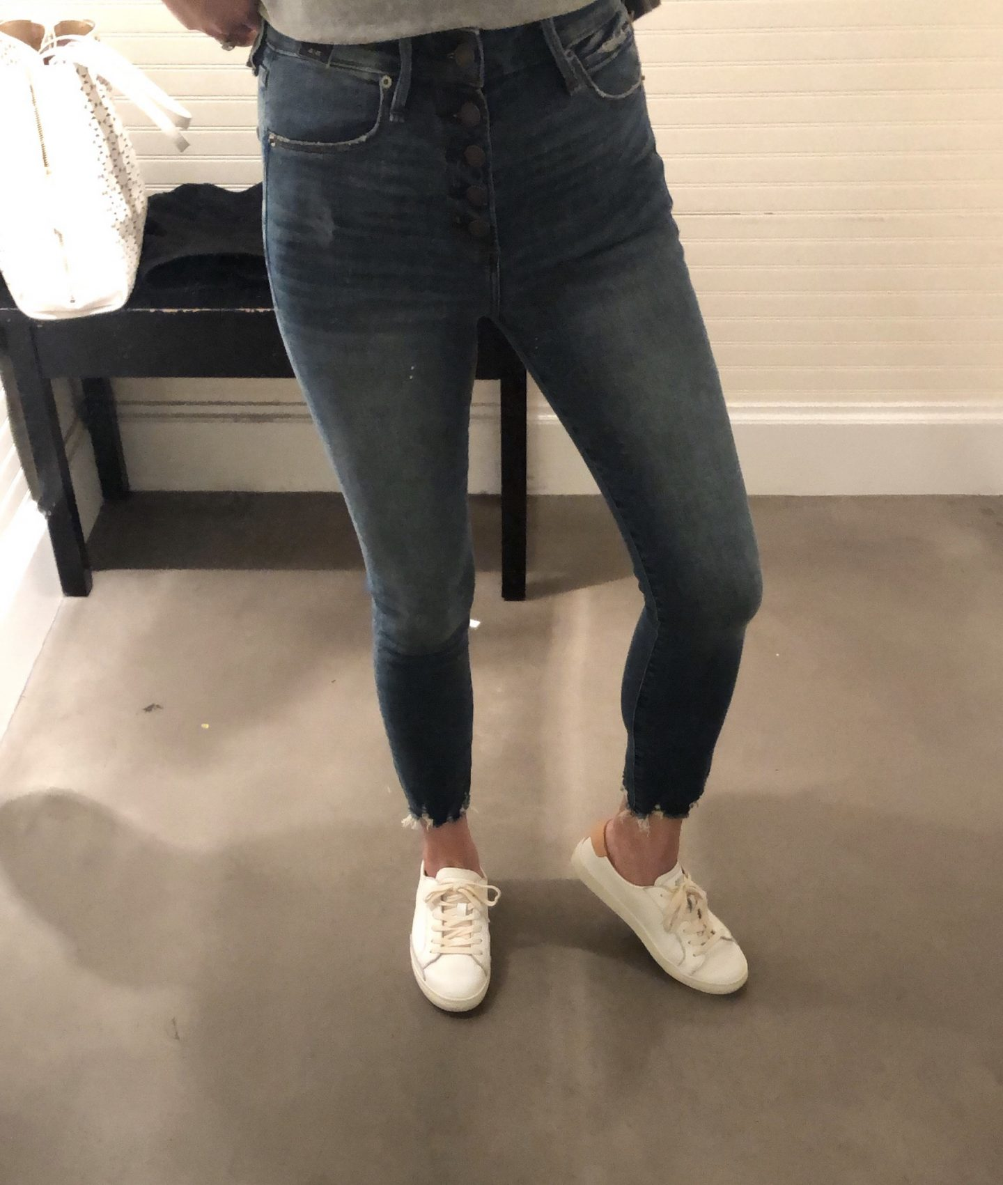 Abercrombie Button Front High Rise Super Skinny Ankle Jeans, size 25 short