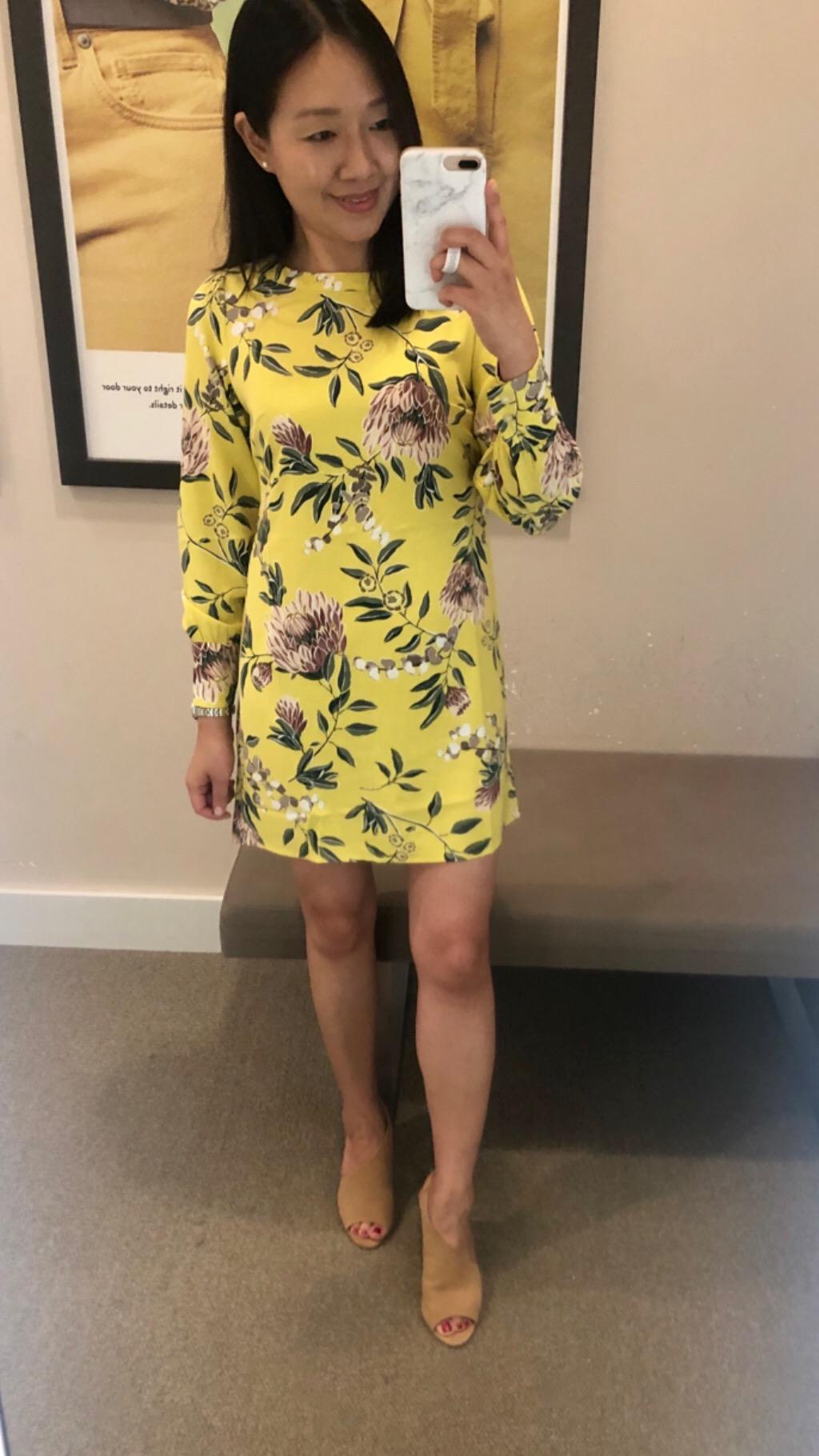 LOFT Floral Boatneck Shift Dress, size 0P