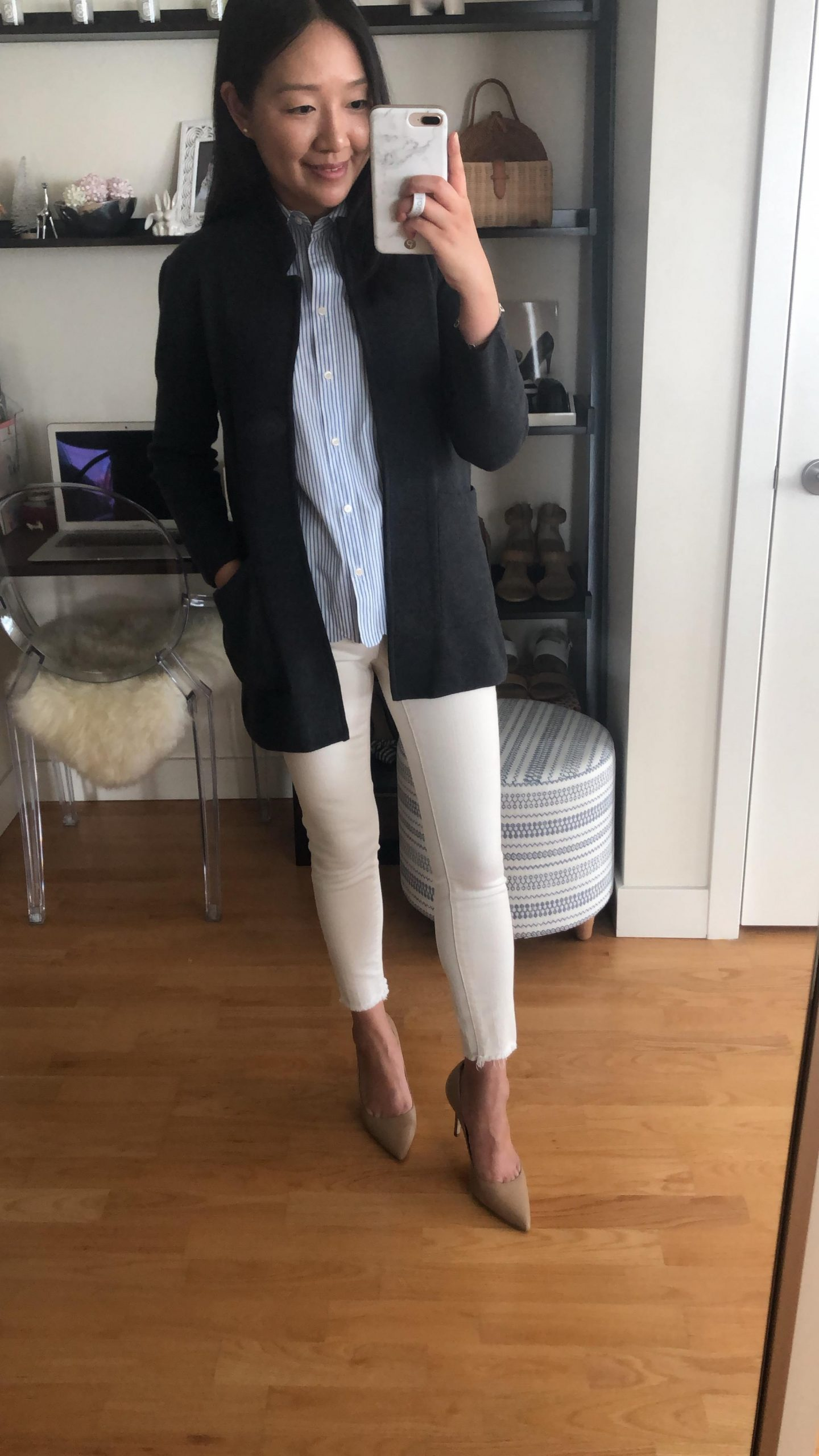 J.Crew Factory Open-Front Sweater Blazer, size XS