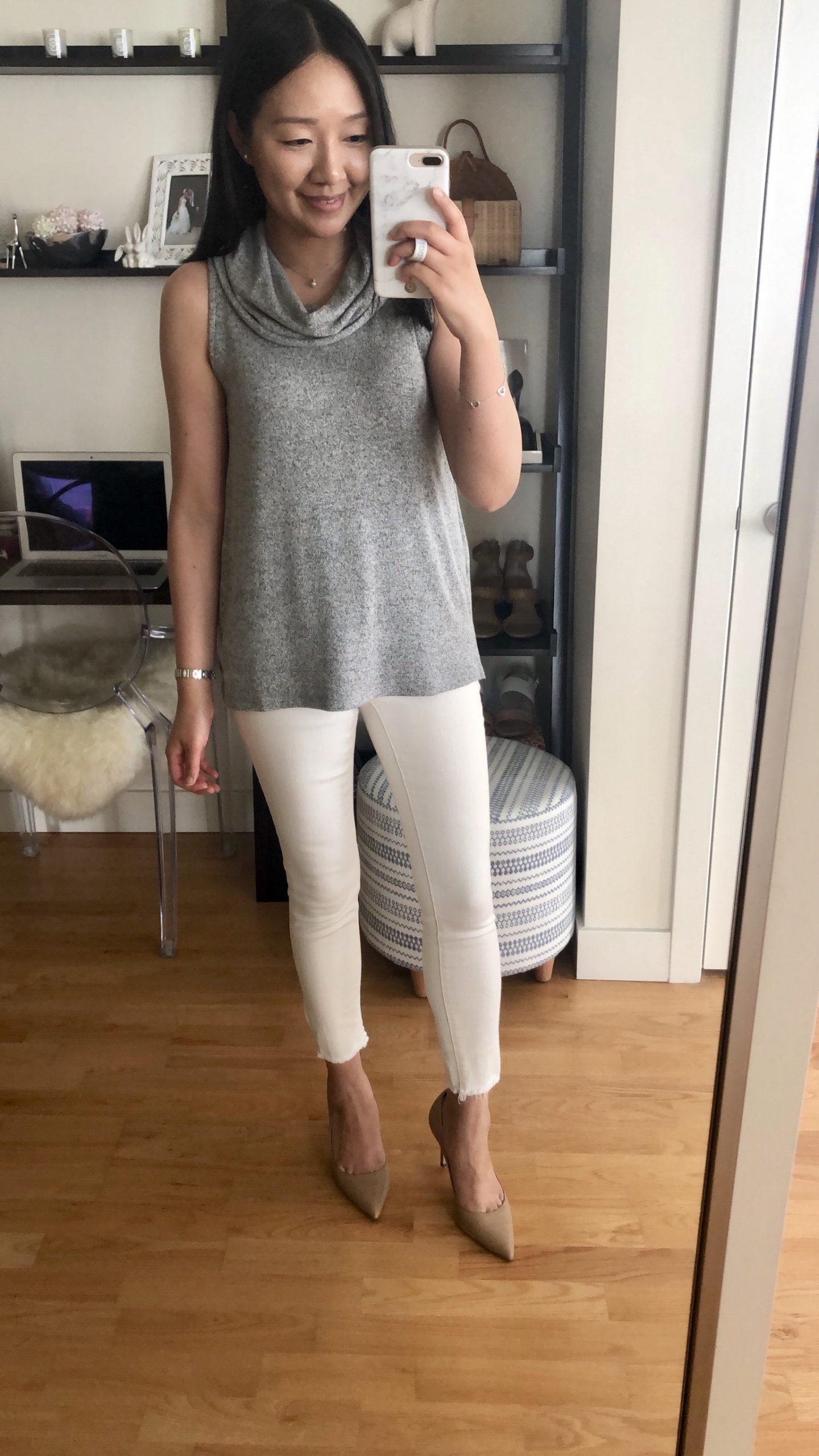 Lou & Grey Sleeveless Cowl Top, size XXS regular
