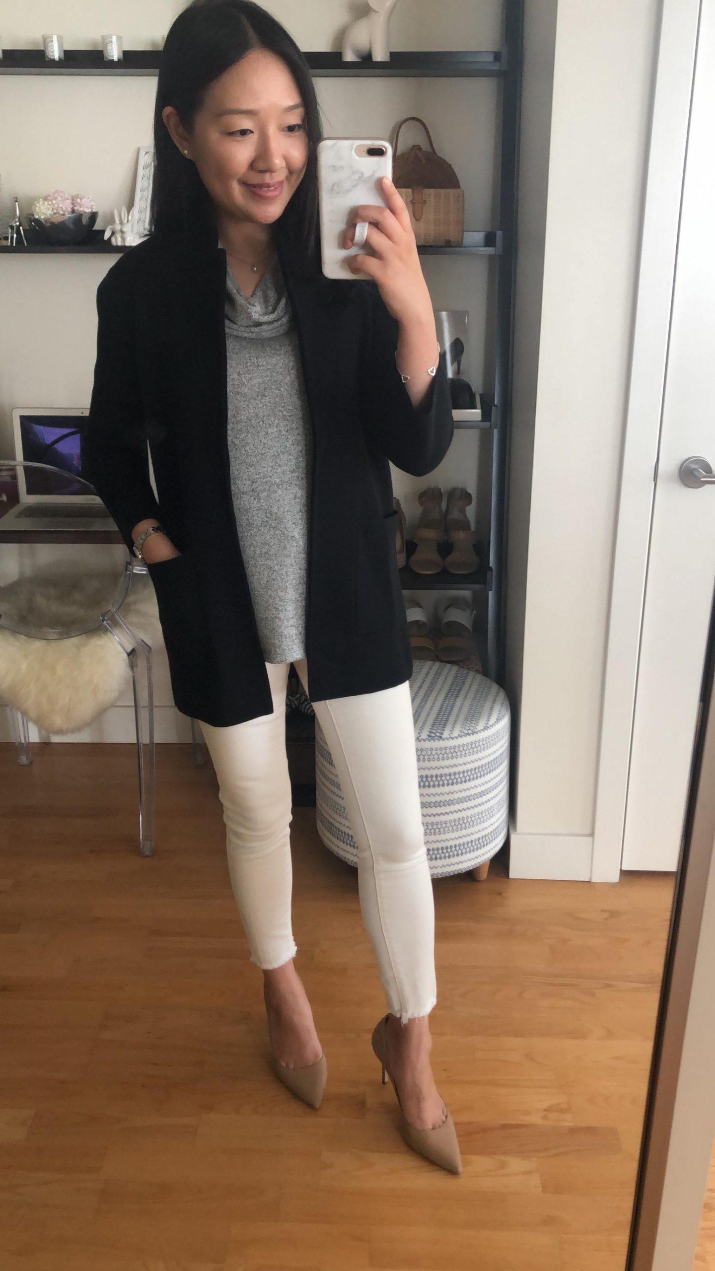J.Crew Sophie open front sweater blazer, size XXS