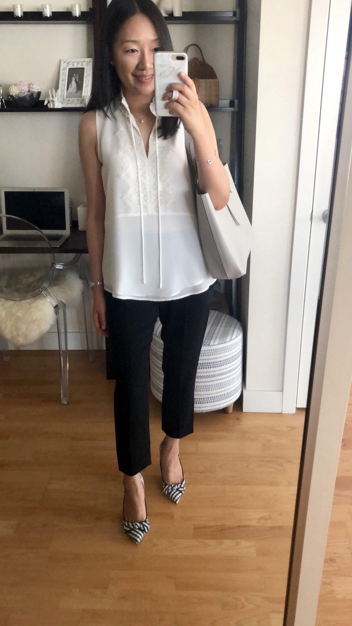 Karl Lagerfeld Tie-Neck Blouse, size XS