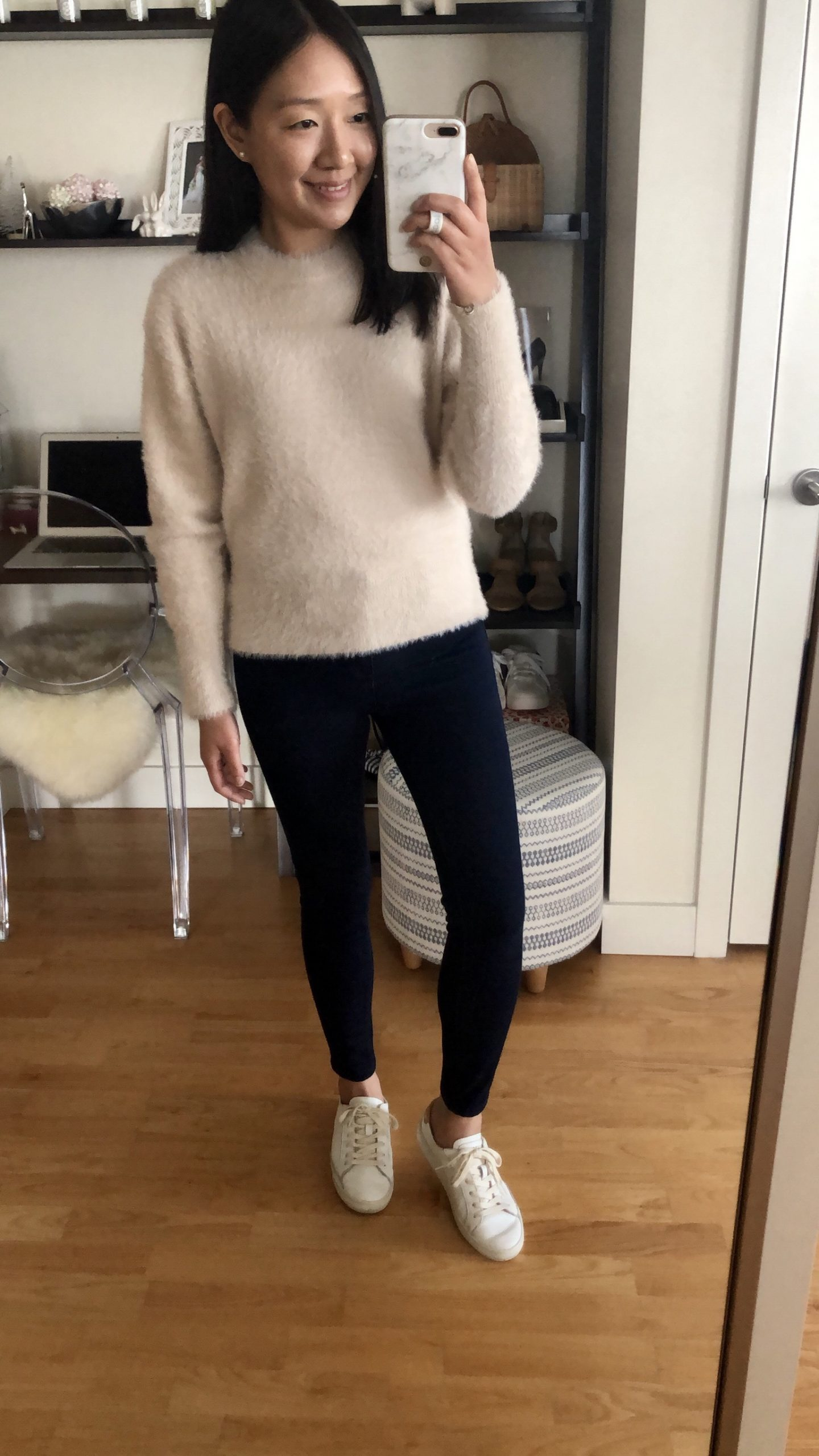 Ann Taylor Brushed Crew Neck Sweater, size XS regular