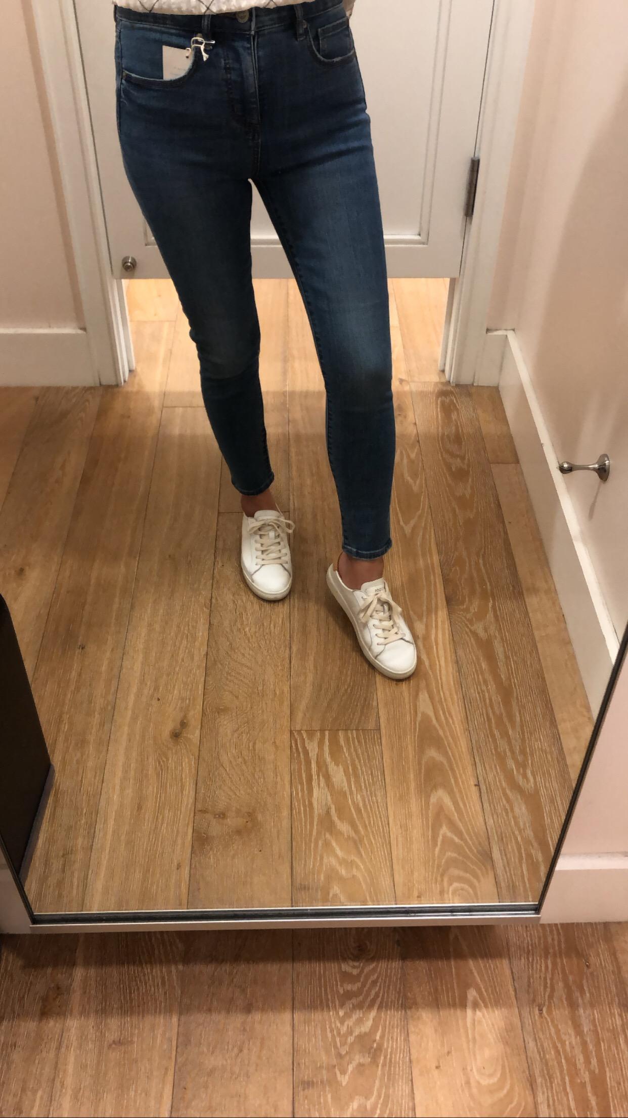 LOFT High Rise Slim Pocket Skinny Jeans in Original Mid Indigo Wash, size 25/0P