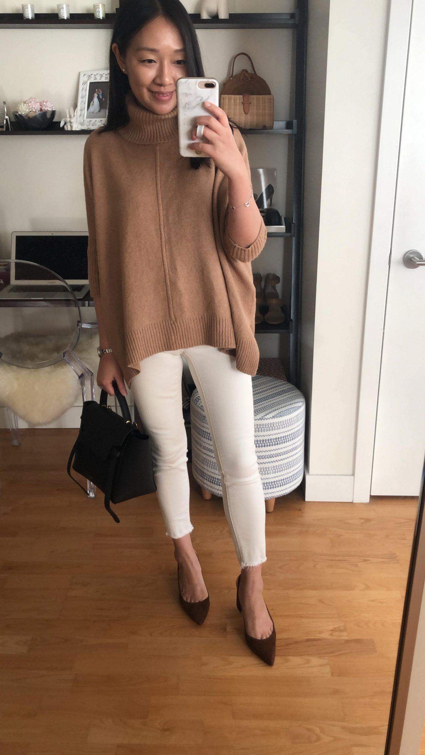 LOFT Turtleneck Poncho Sweater, size XSP