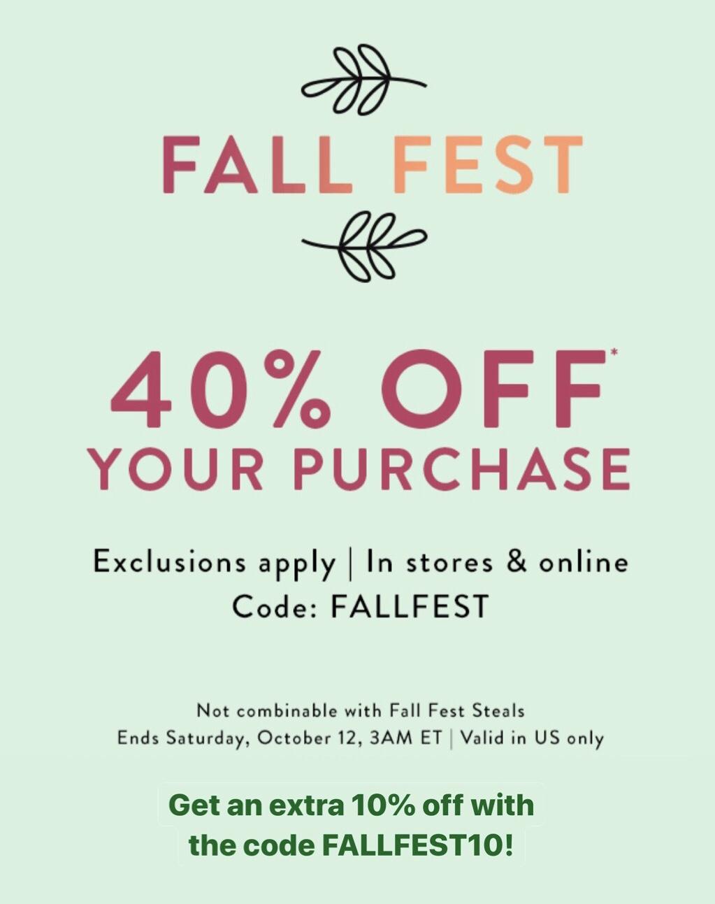 LOFT Fall Fest Sale