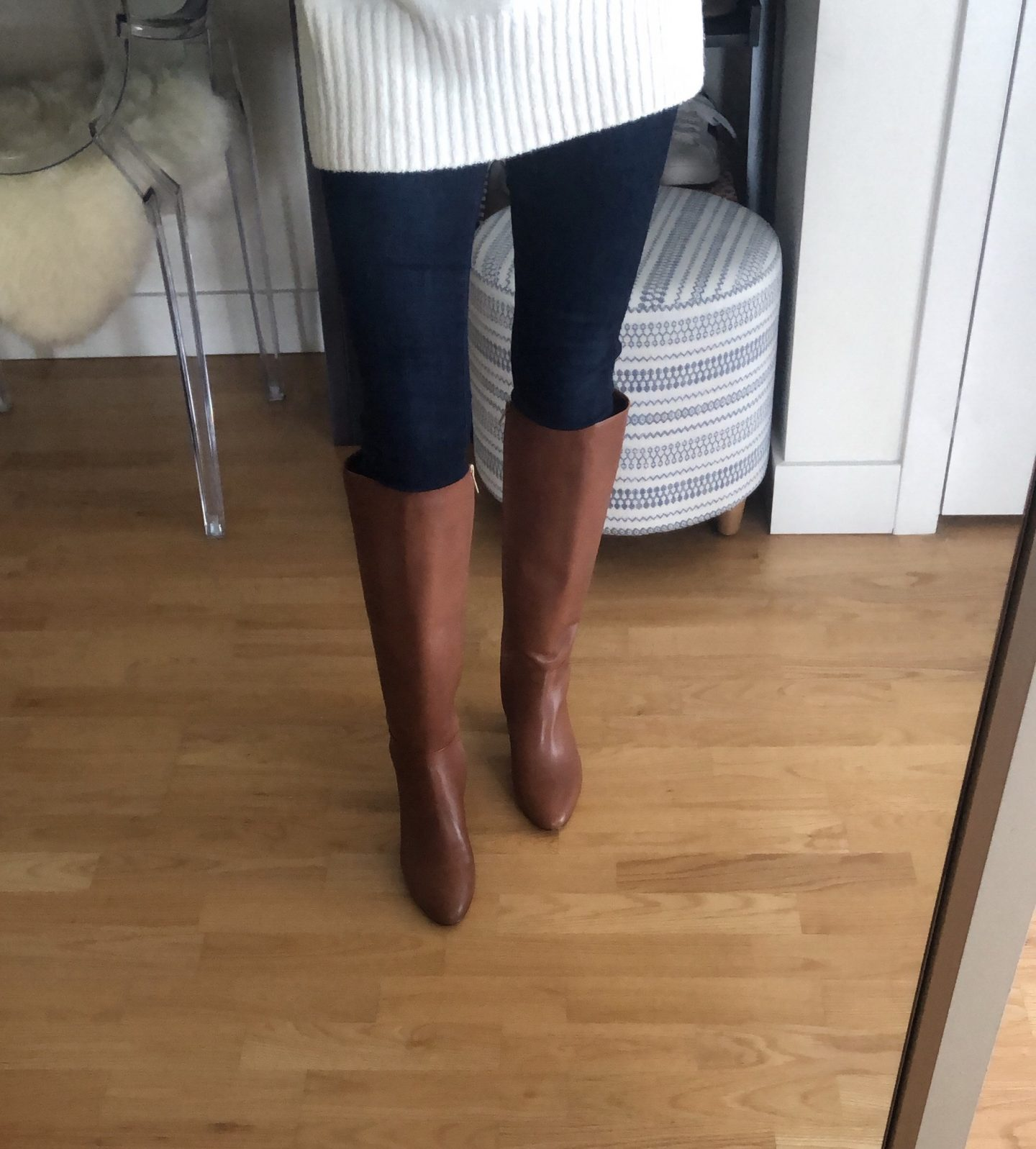 Banana Republic Tall Mid-Heel Zip Boot