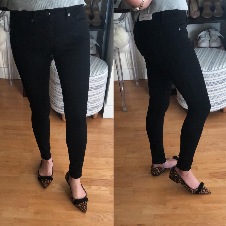 LOFT Slim Pocket Skinny Jeans in Black, size 25/0P