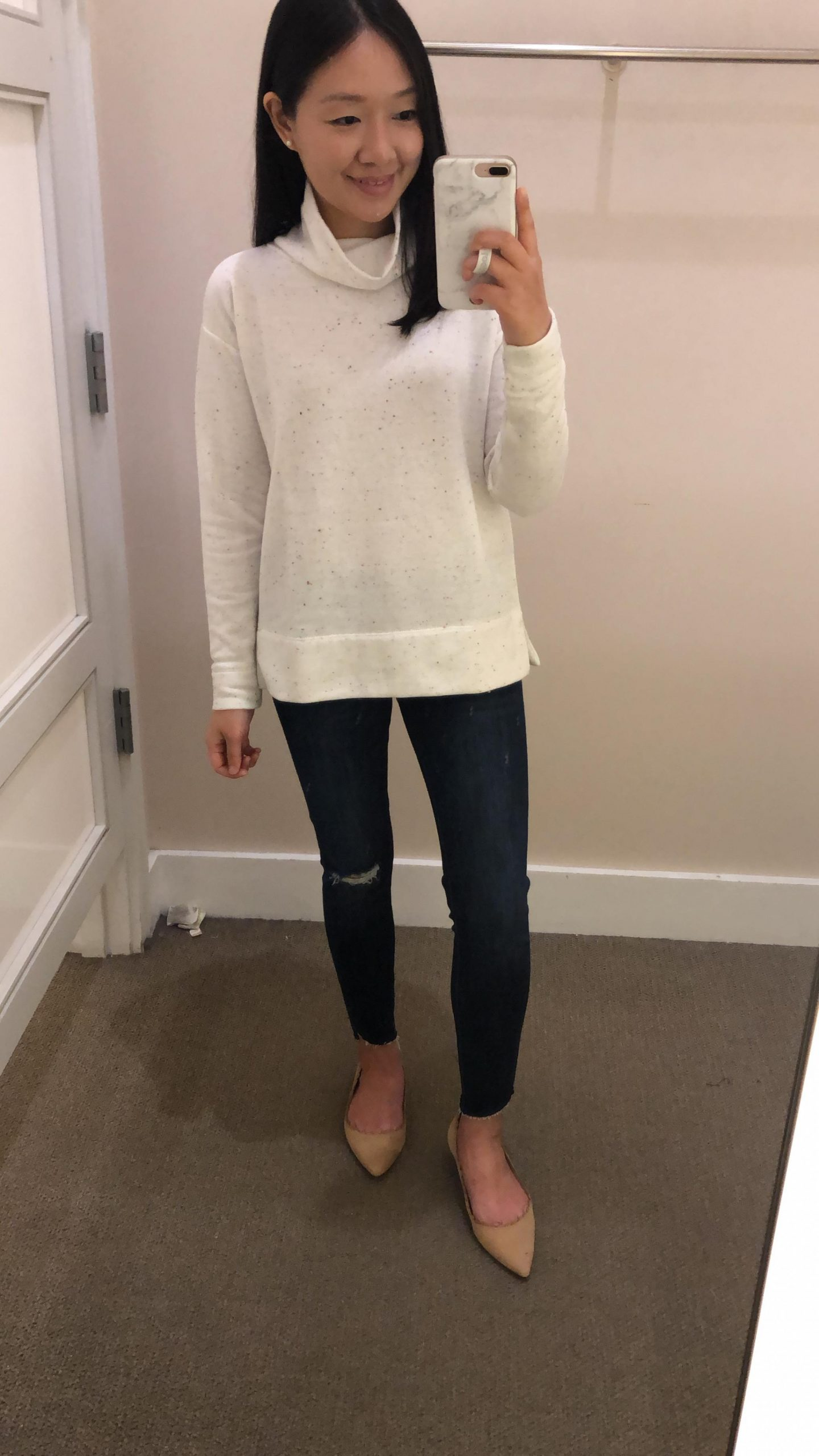 LOFT Funnel Neck Sweatshirt, size XS regular