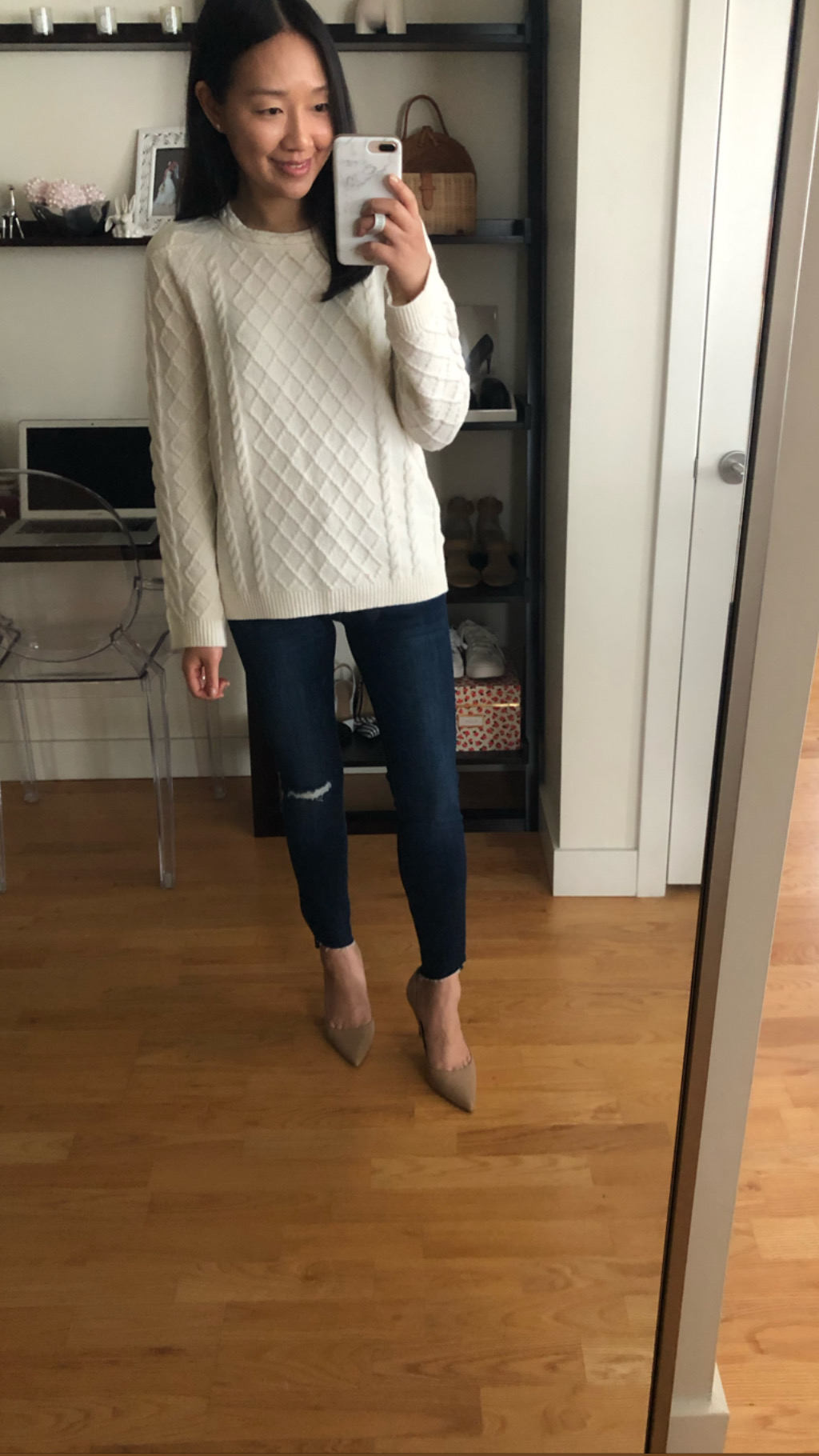 Ann Taylor Mixed Stitch Cable Sweater, size SP