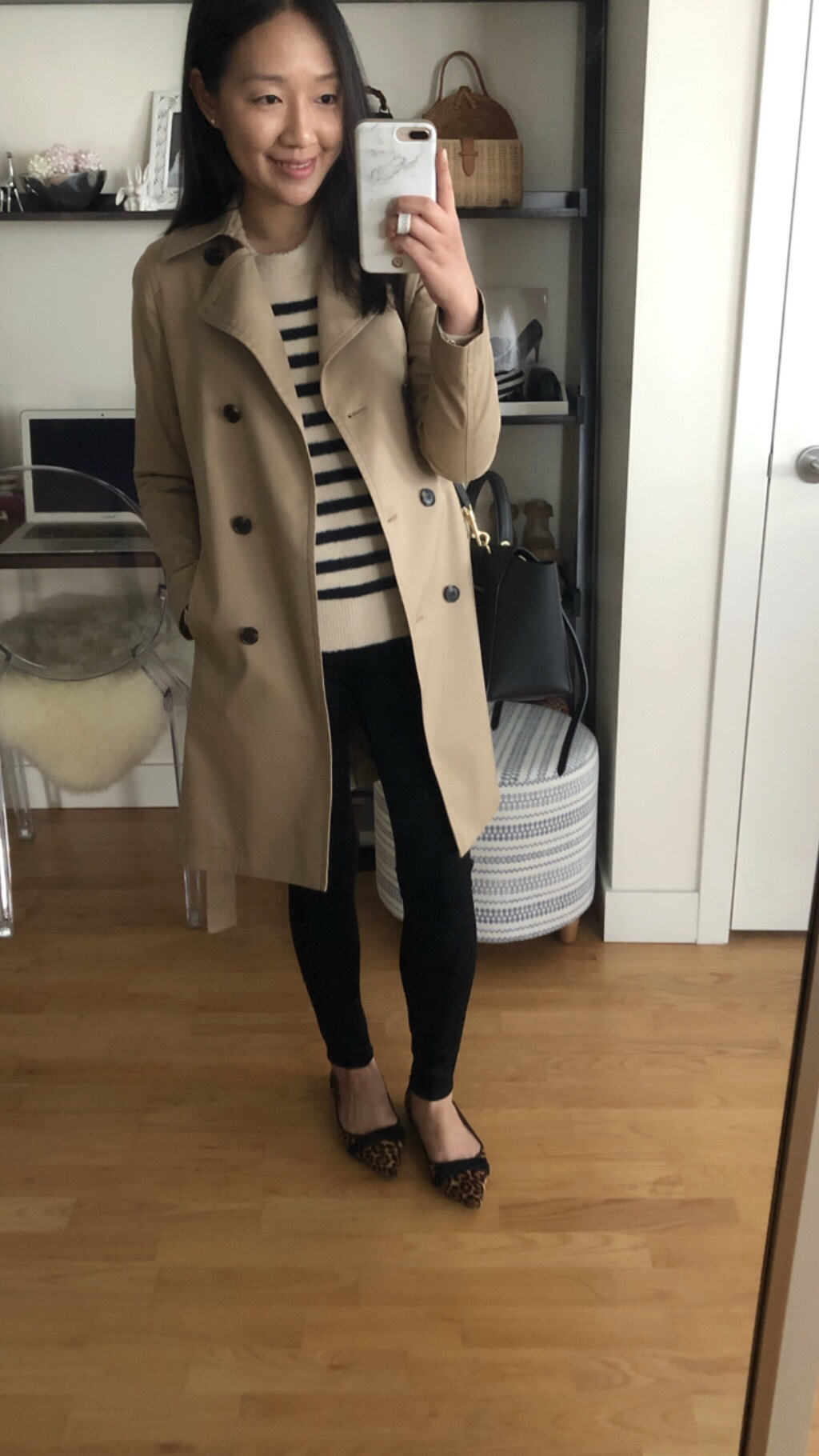 Ann Taylor Trench Coat, size XSP