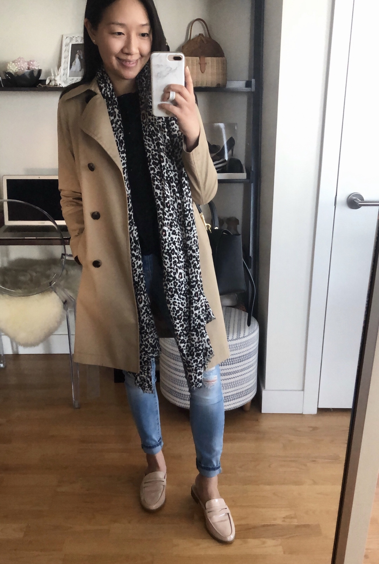 Ann Taylor Trench Coat, size XXSP