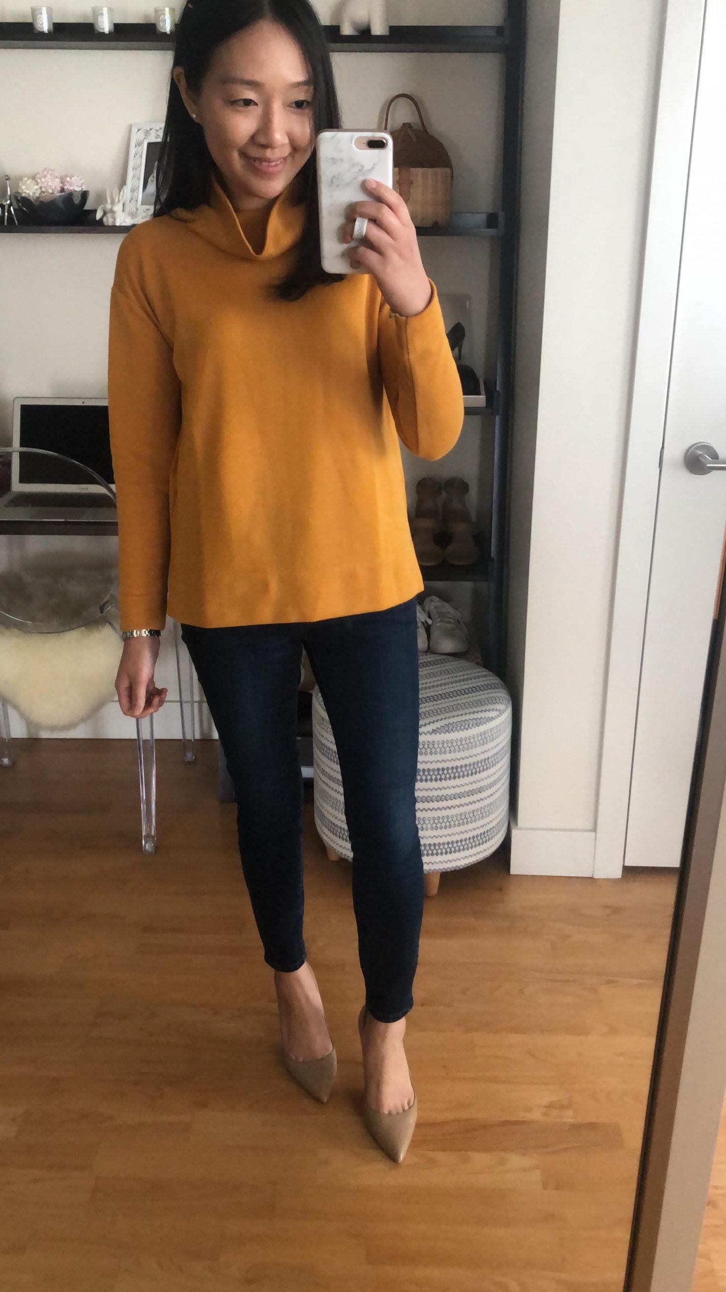 LOFT Funnel Neck Sweatshirt, size XSP