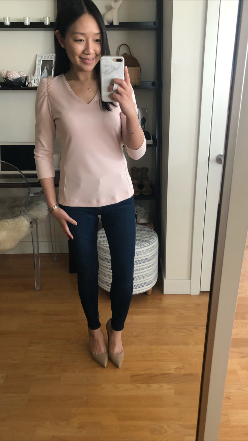 Ann Taylor Ruffle Puff Sleeve Top, size XSP