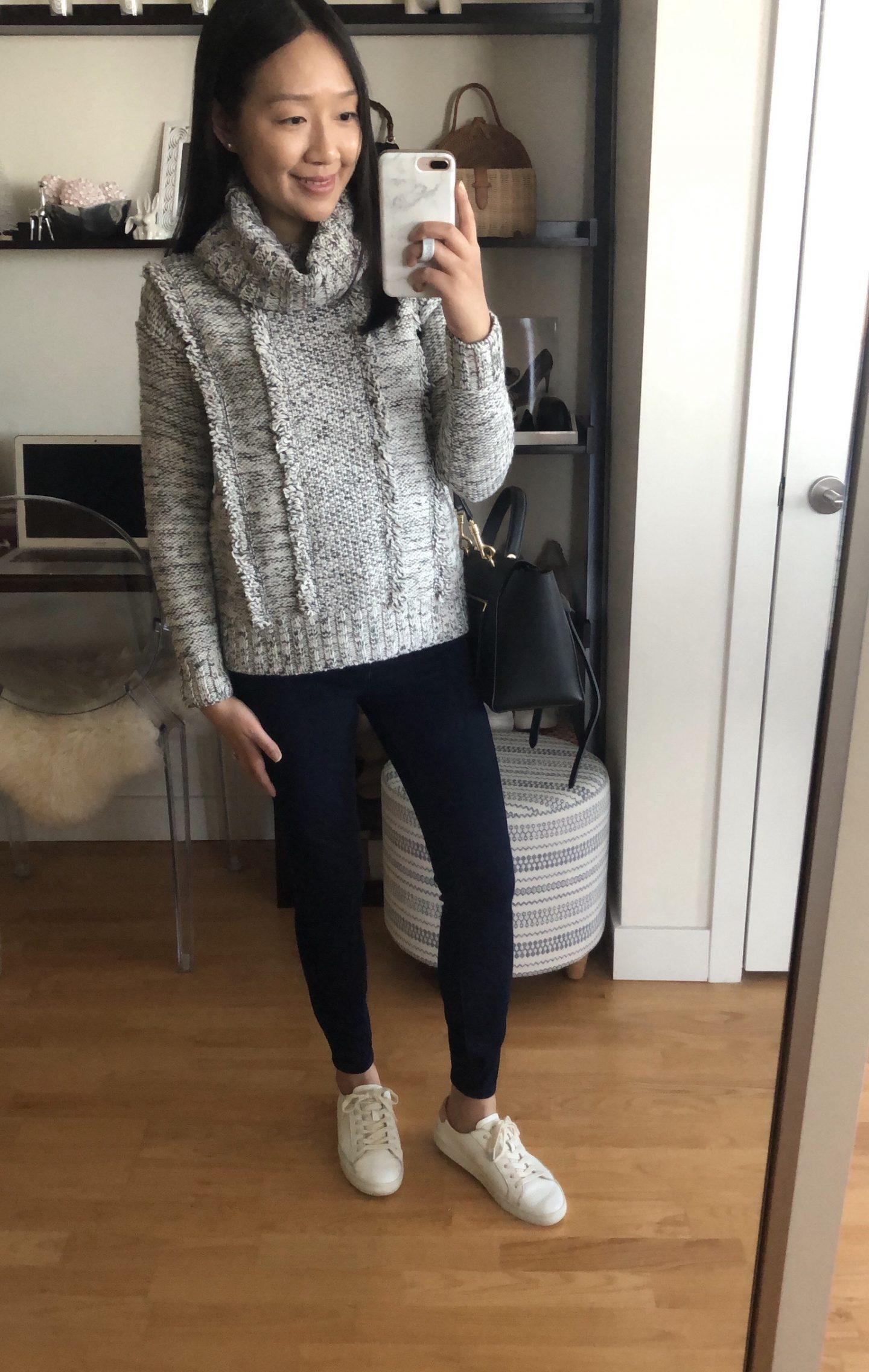 Lou & Grey Fringemarl Sweater, size XXS