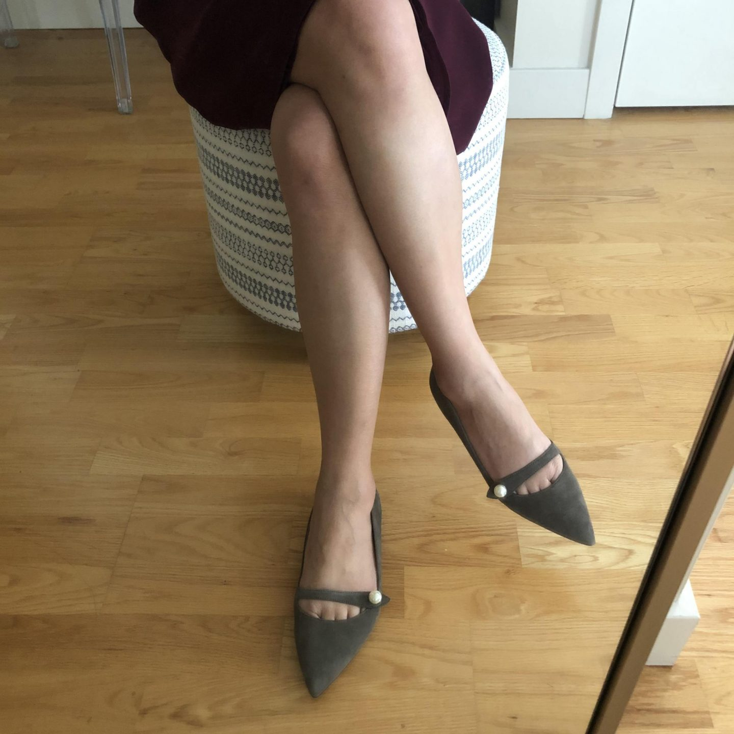 Ann Taylor Sylvan Suede Mary Jane Flats