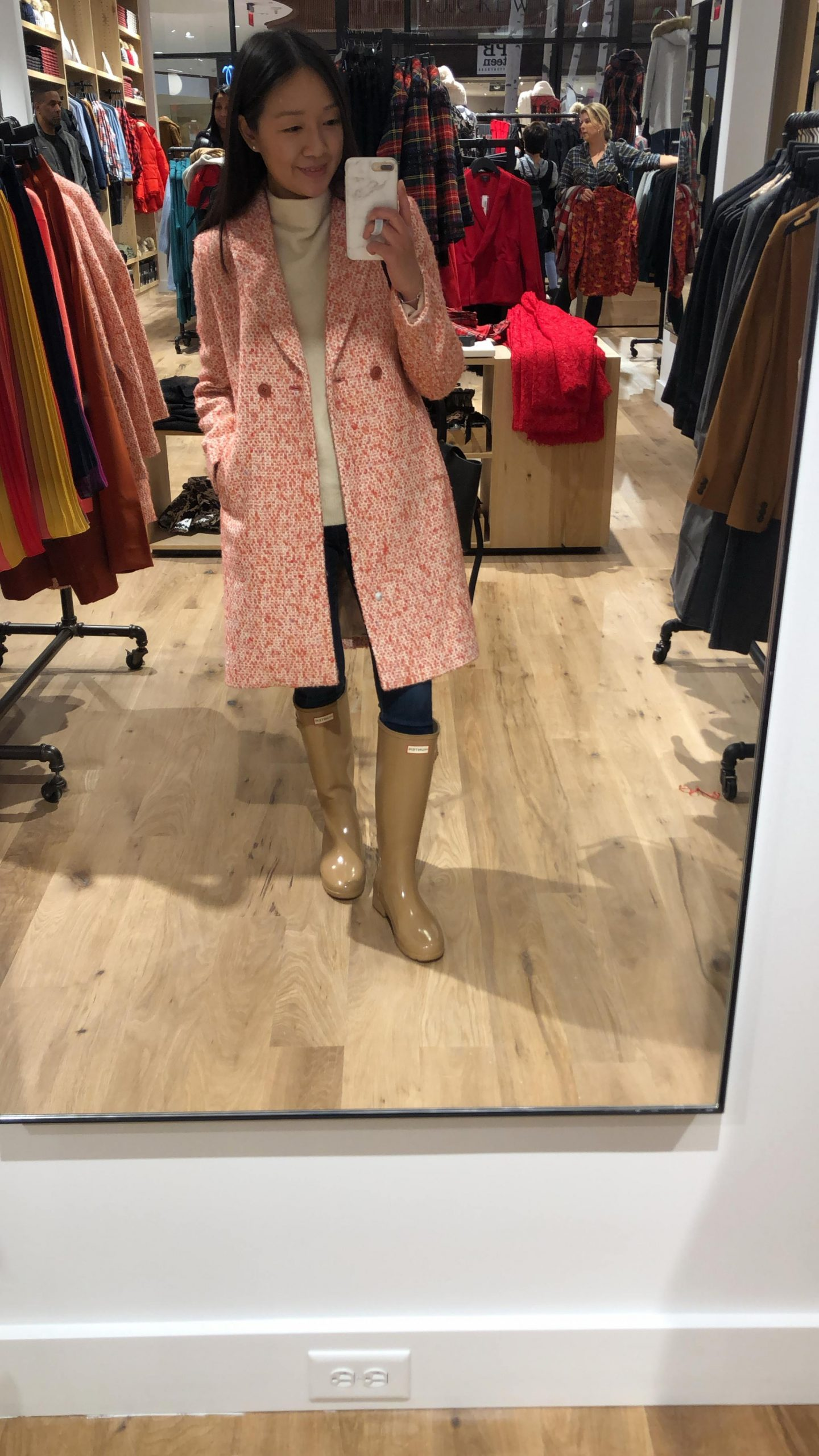 J.Crew Daphne Topcoat in Italian Tweed, size 00 regular