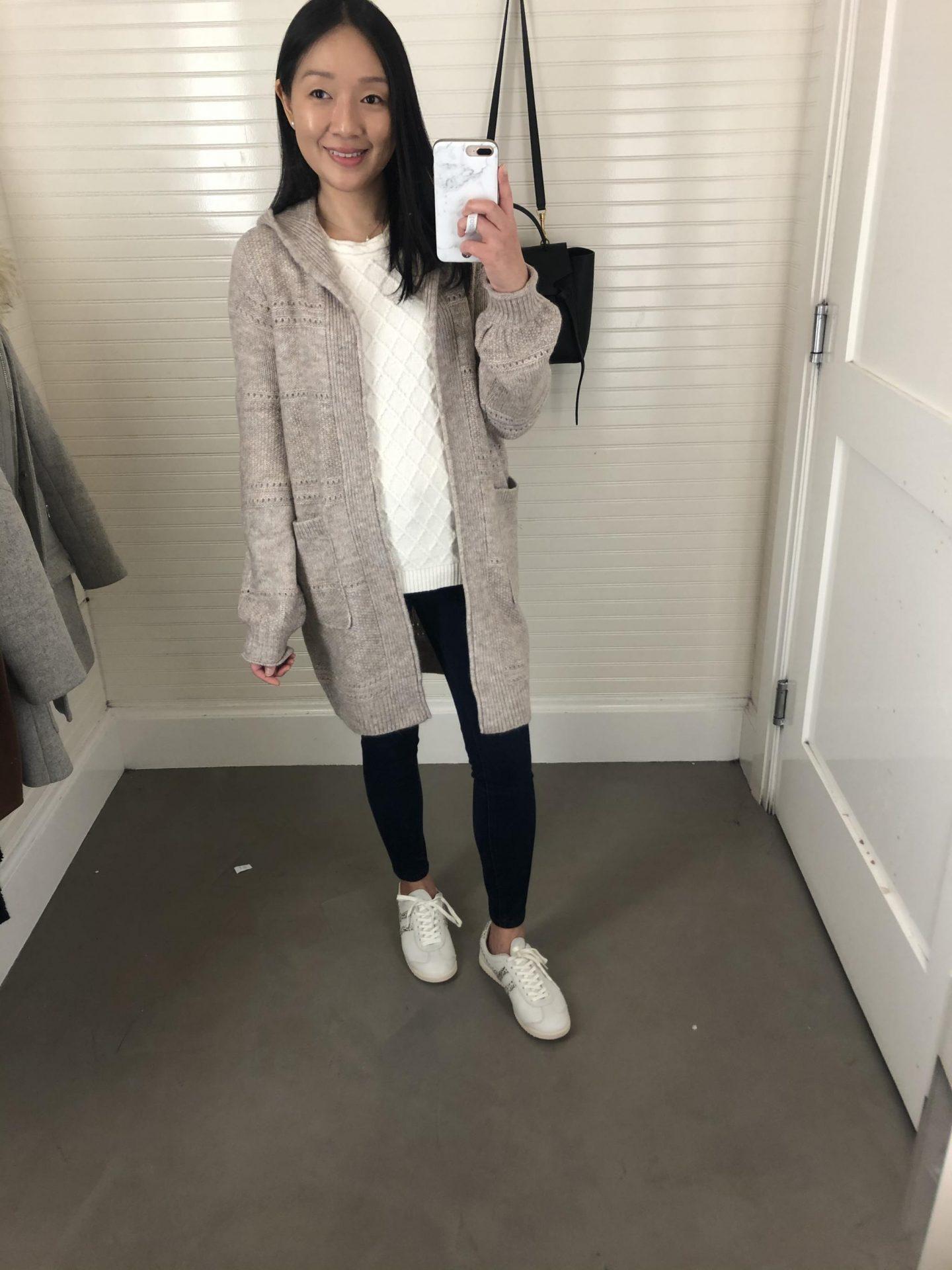 Abercrombie Hooded Cardigan, size XS