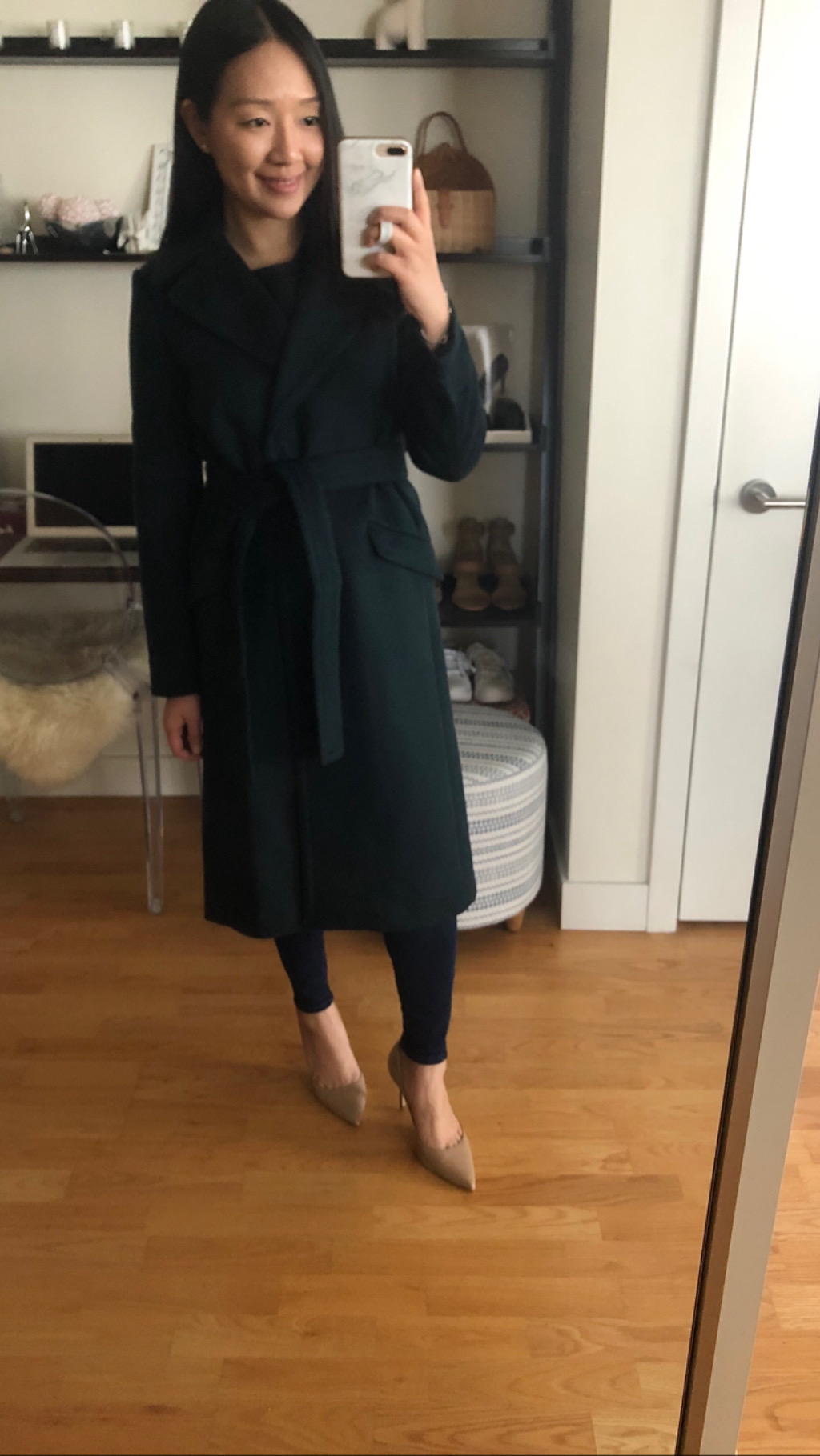 Ann Taylor Belted Trench Coat, size XSP