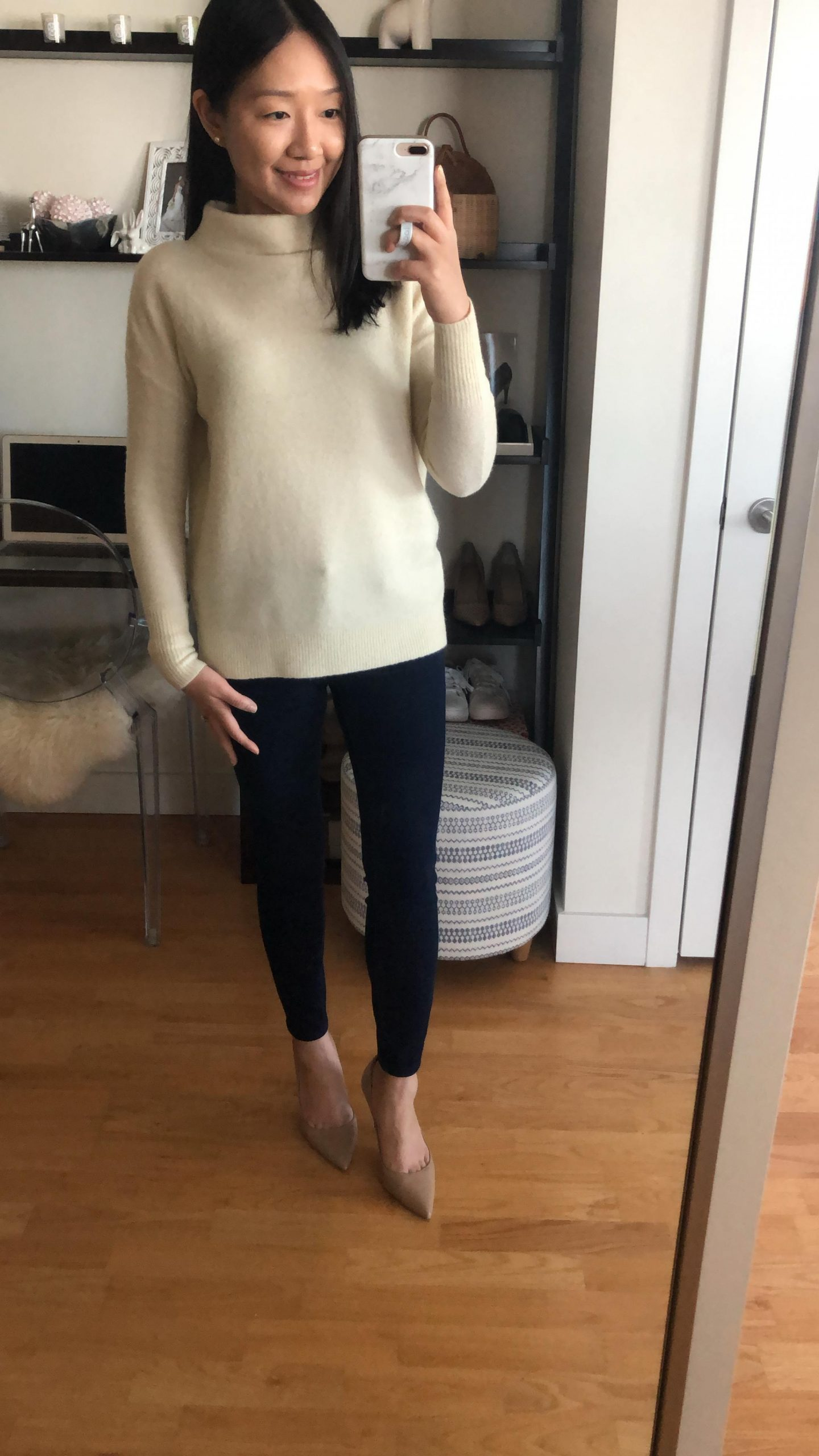Ann Taylor Cozy Mock Neck Sweater, size XXSP