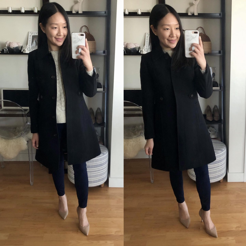 J.Crew New Lady Day Coat, size 4 petite